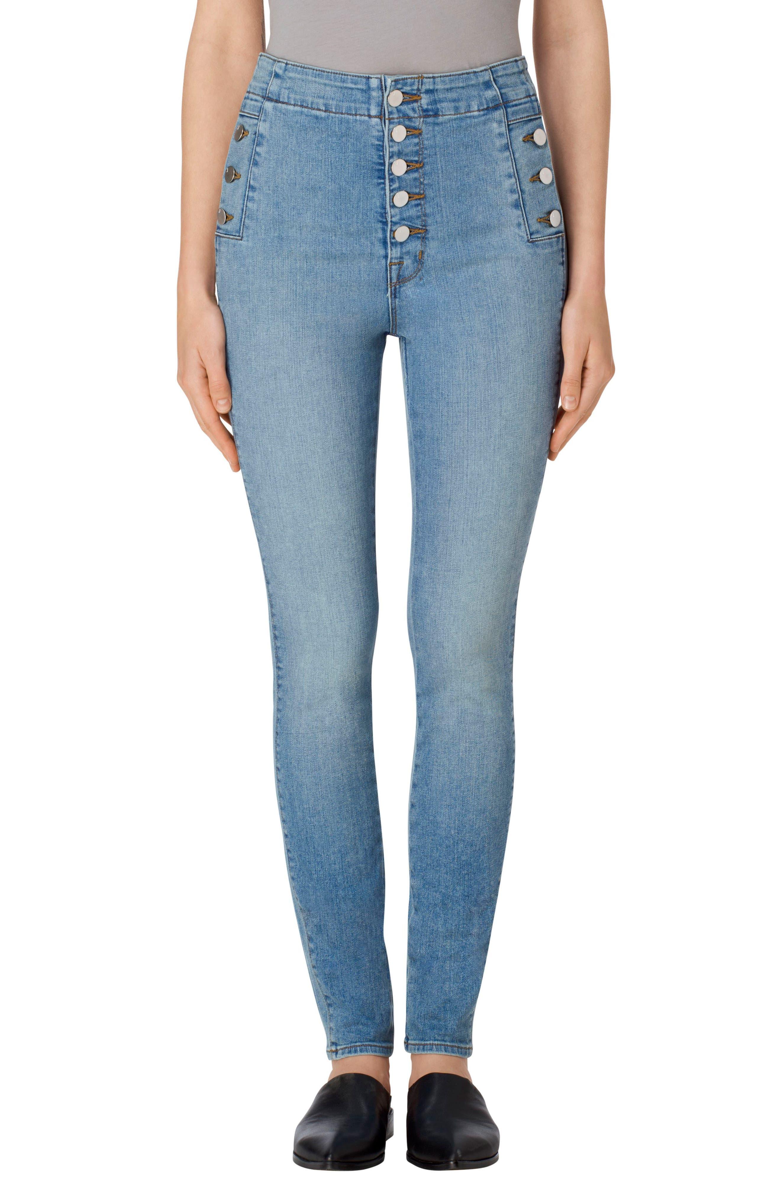 Alternate Image 1 Selected - J Brand Natasha Sky High High Waist Skinny Jeans (Nordstrom Exclusive)
