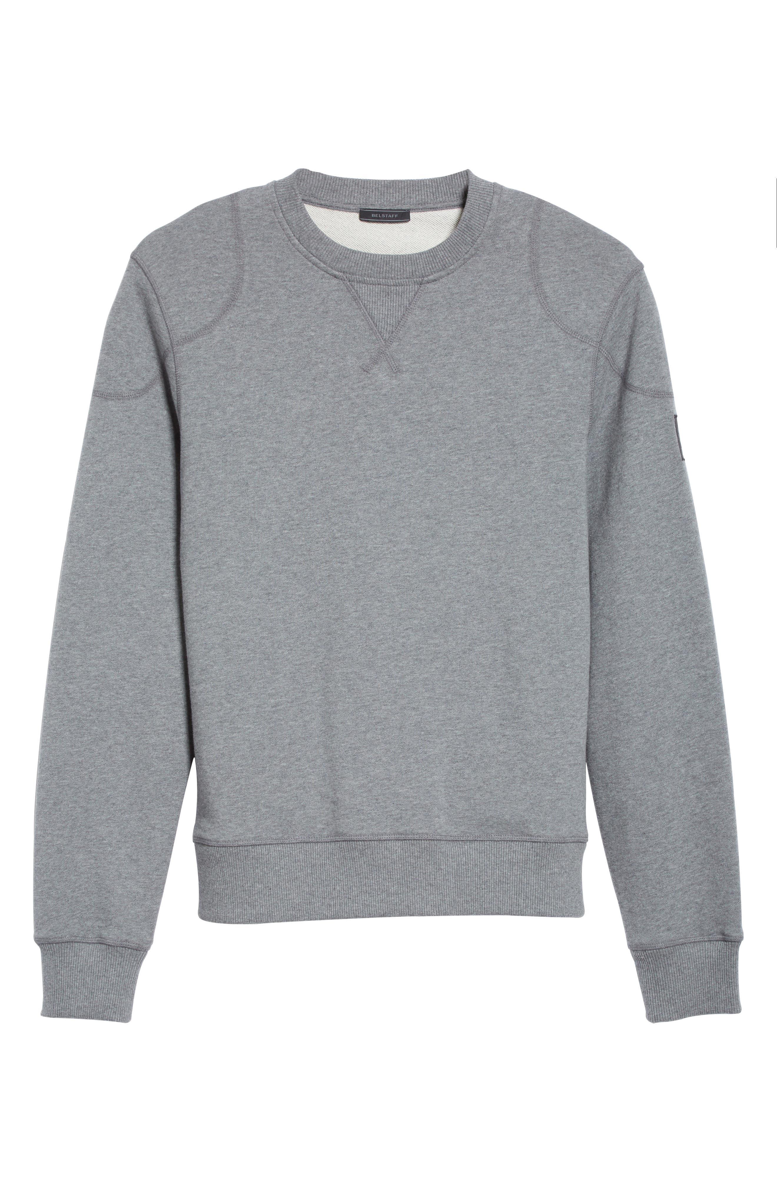Jefferson Fleece Sweatshirt,                             Alternate thumbnail 6, color,                             Dark Grey Mel
