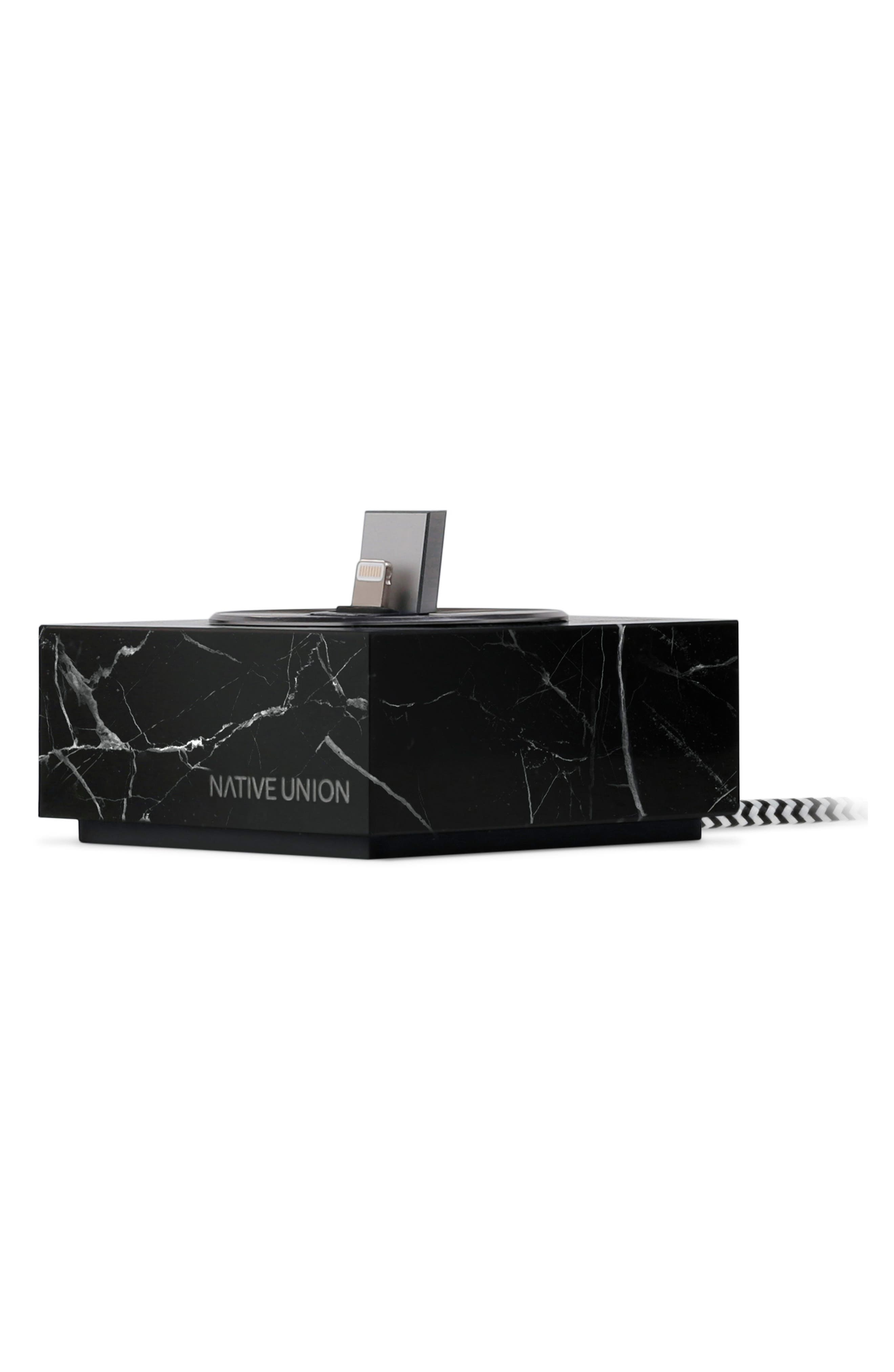 Alternate Image 1 Selected - Native Union DOCK+ Marble Charging Station with Lightning Cable