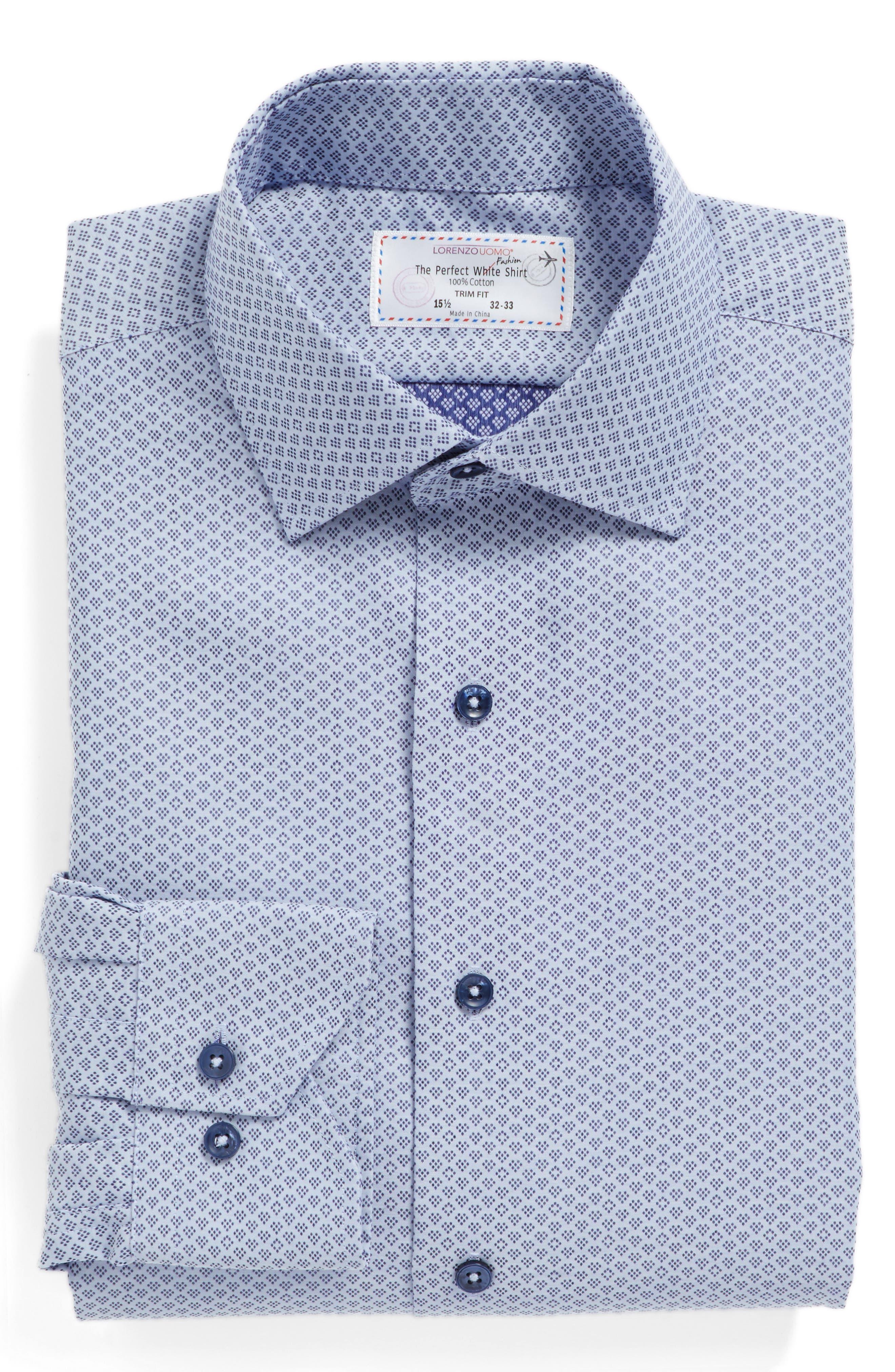 Main Image - Lorenzo Uomo Trim Fit Geometric Dress Shirt