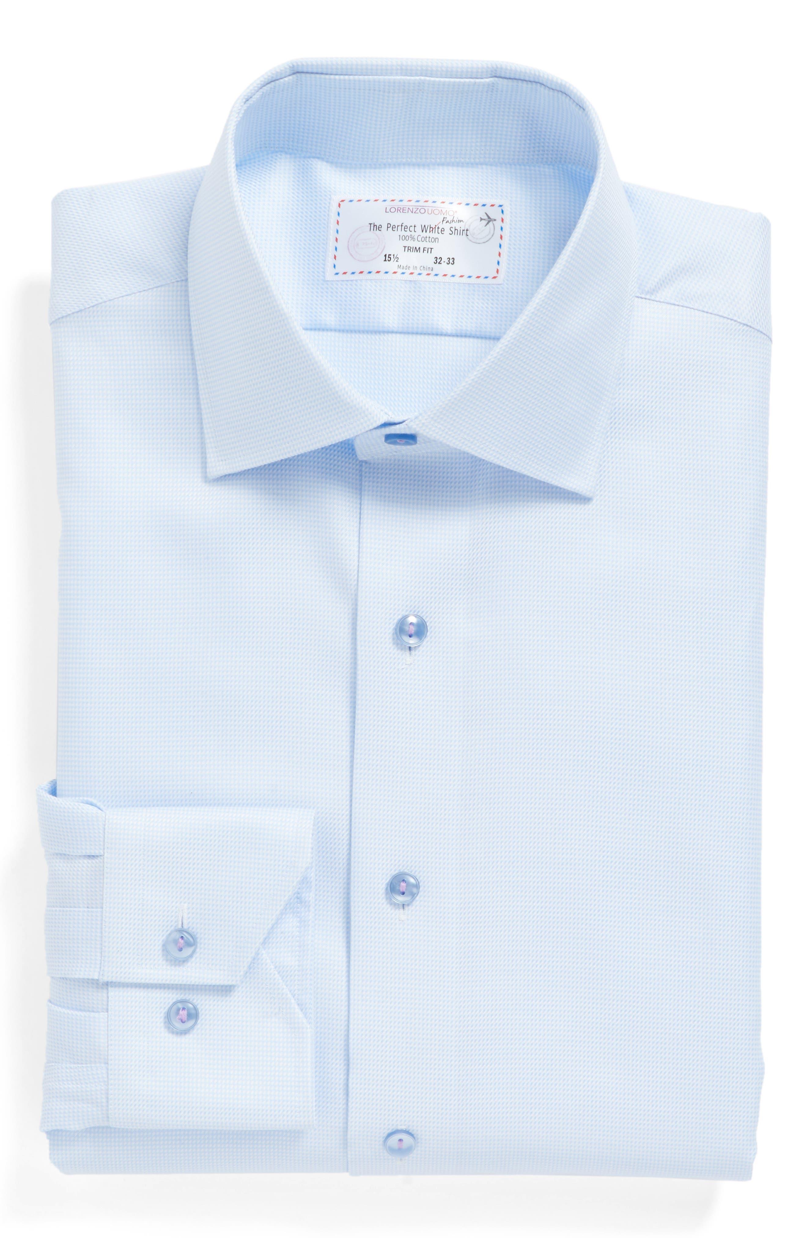 Alternate Image 1 Selected - Lorenzo Uomo Trim Fit Houndstooth Dress Shirt