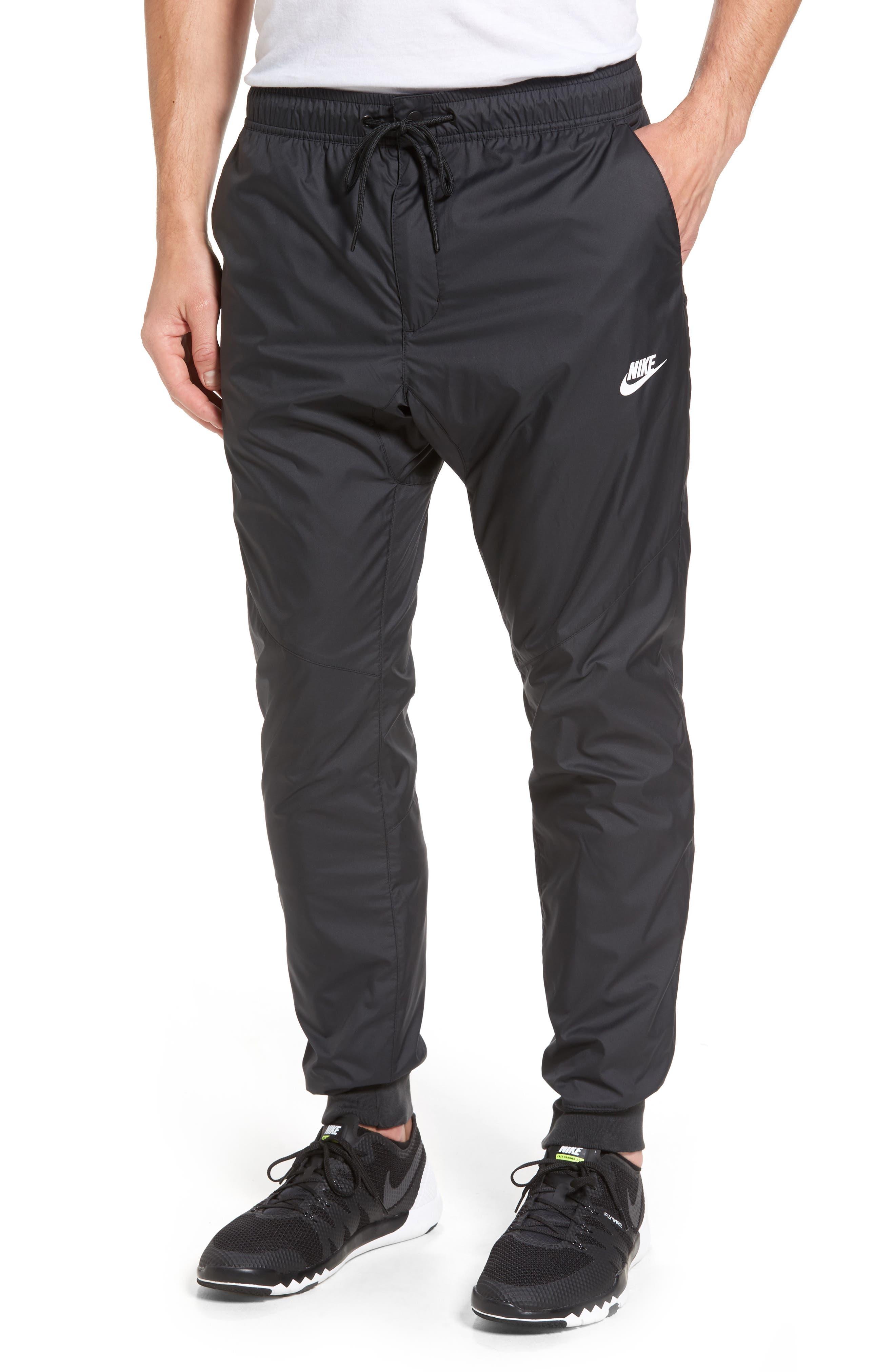 Windrunner Training Pants,                             Main thumbnail 1, color,                             Black/ Black/ Black/ White