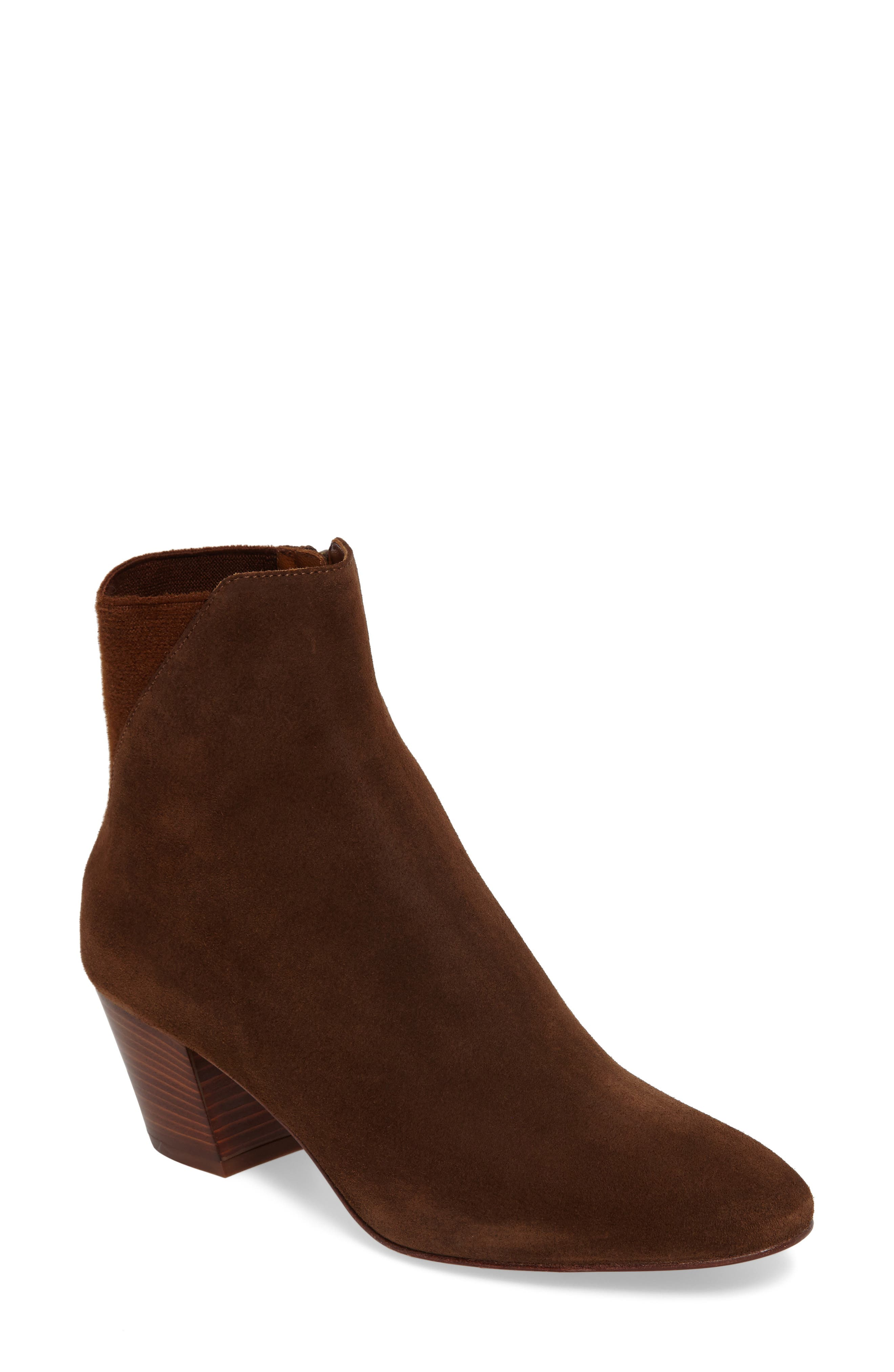 Flaviana Statement Heel Bootie,                             Main thumbnail 1, color,                             Chestnut
