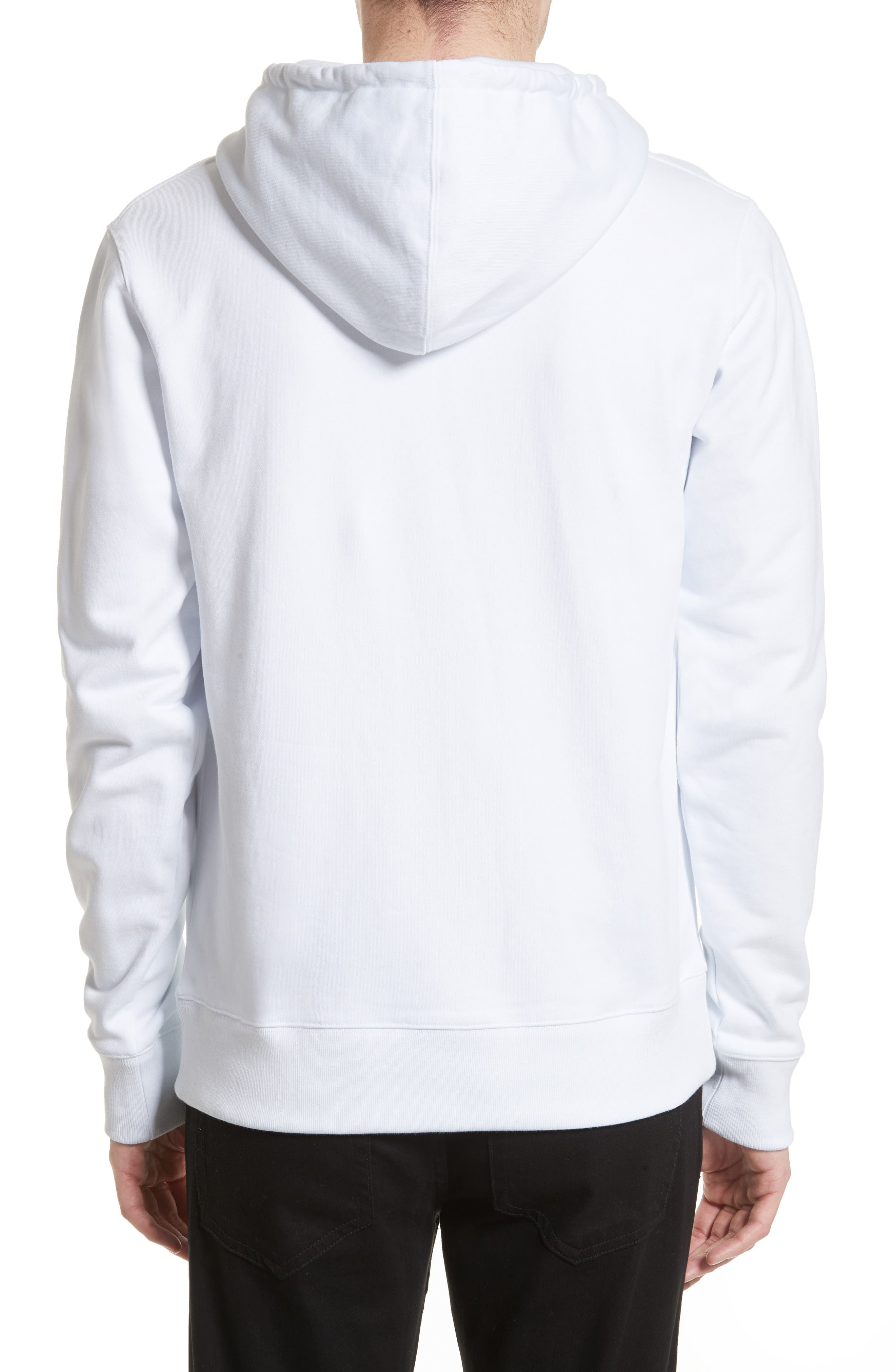Ditch Miller Logo Hoodie,                             Alternate thumbnail 2, color,                             White
