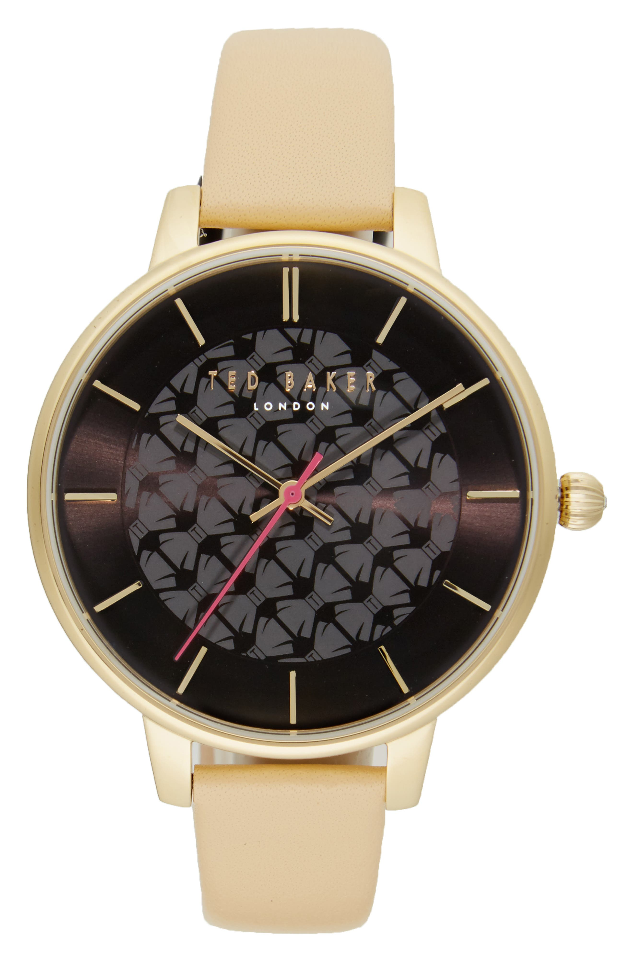 TED BAKER LONDON Kate Leather Strap Watch, 38mm
