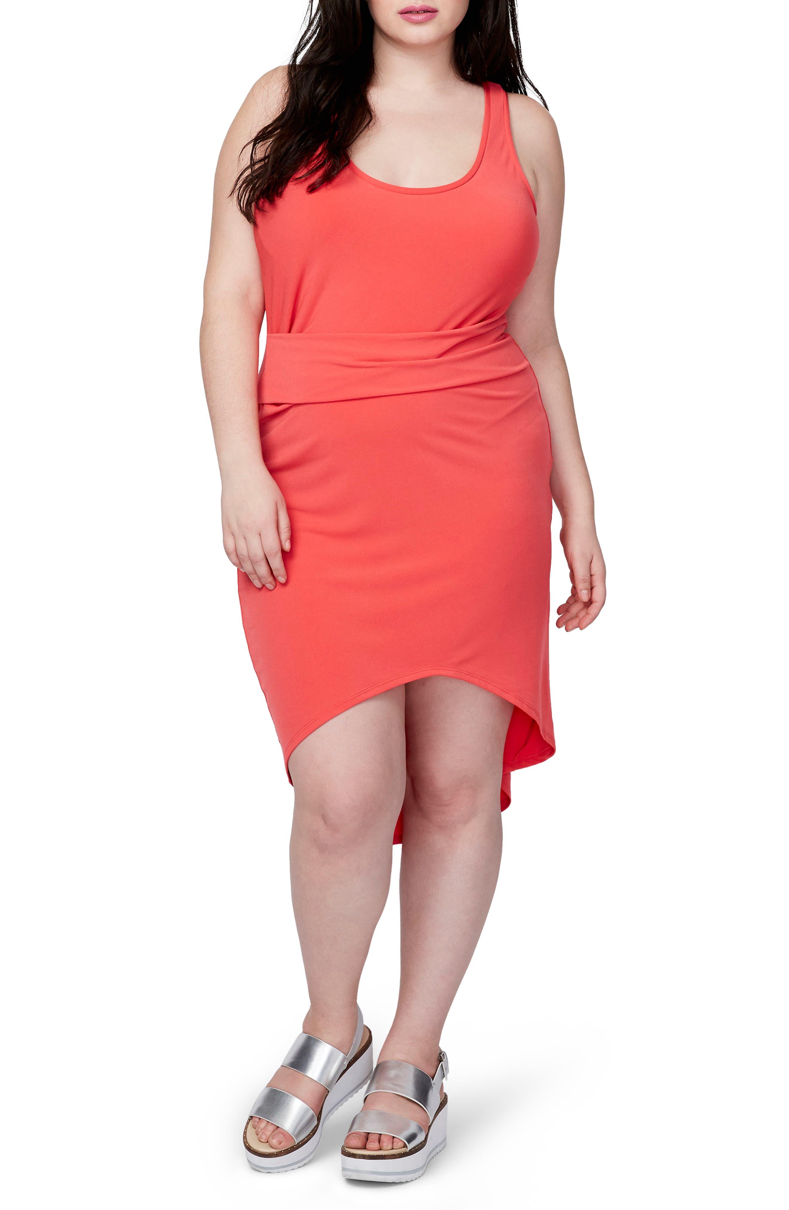 Main Image - RACHEL Rachel Roy Michelle Tank Dress (Plus Size)