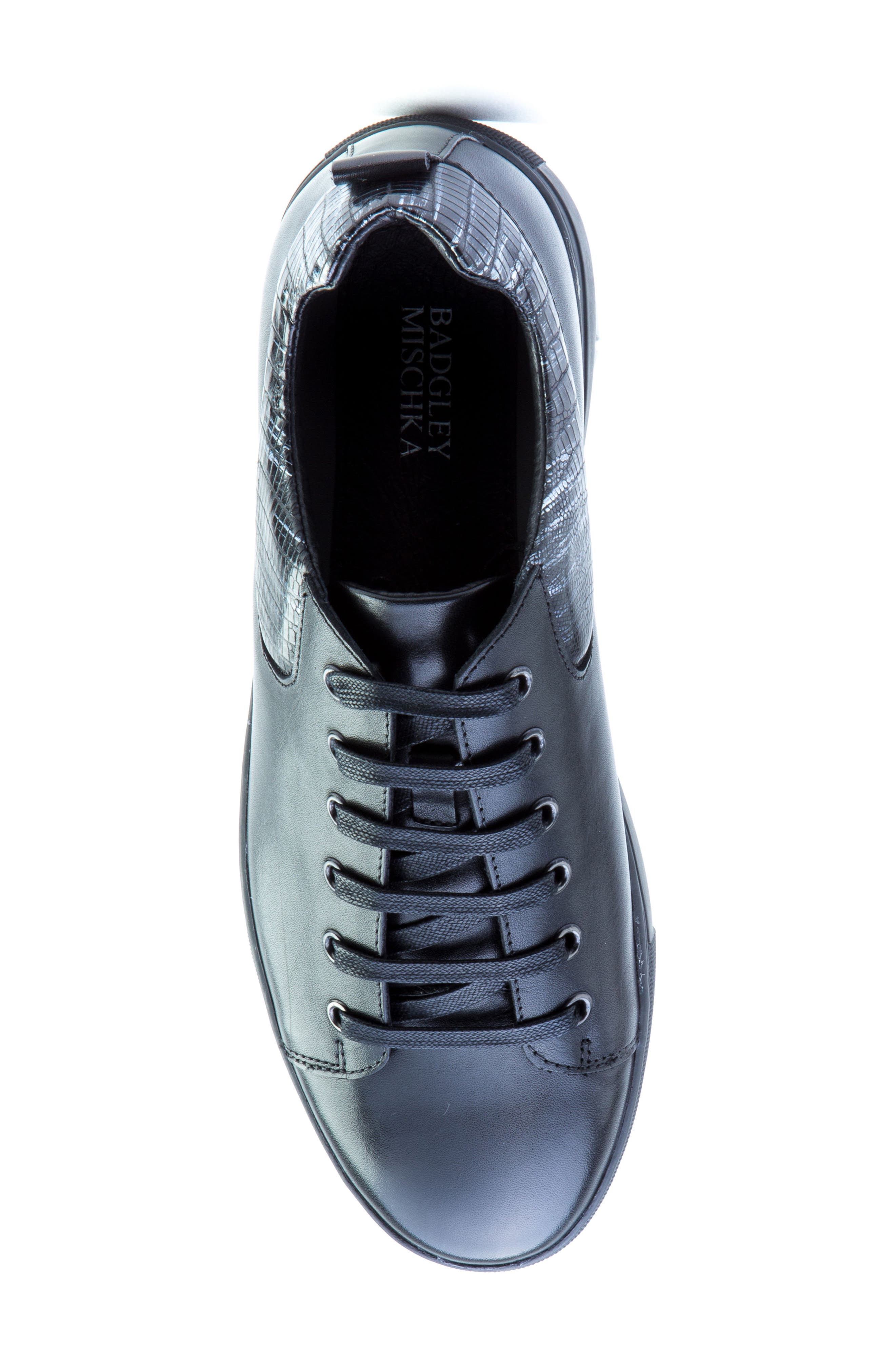 Robinson Sneaker,                             Alternate thumbnail 5, color,                             Black Leather
