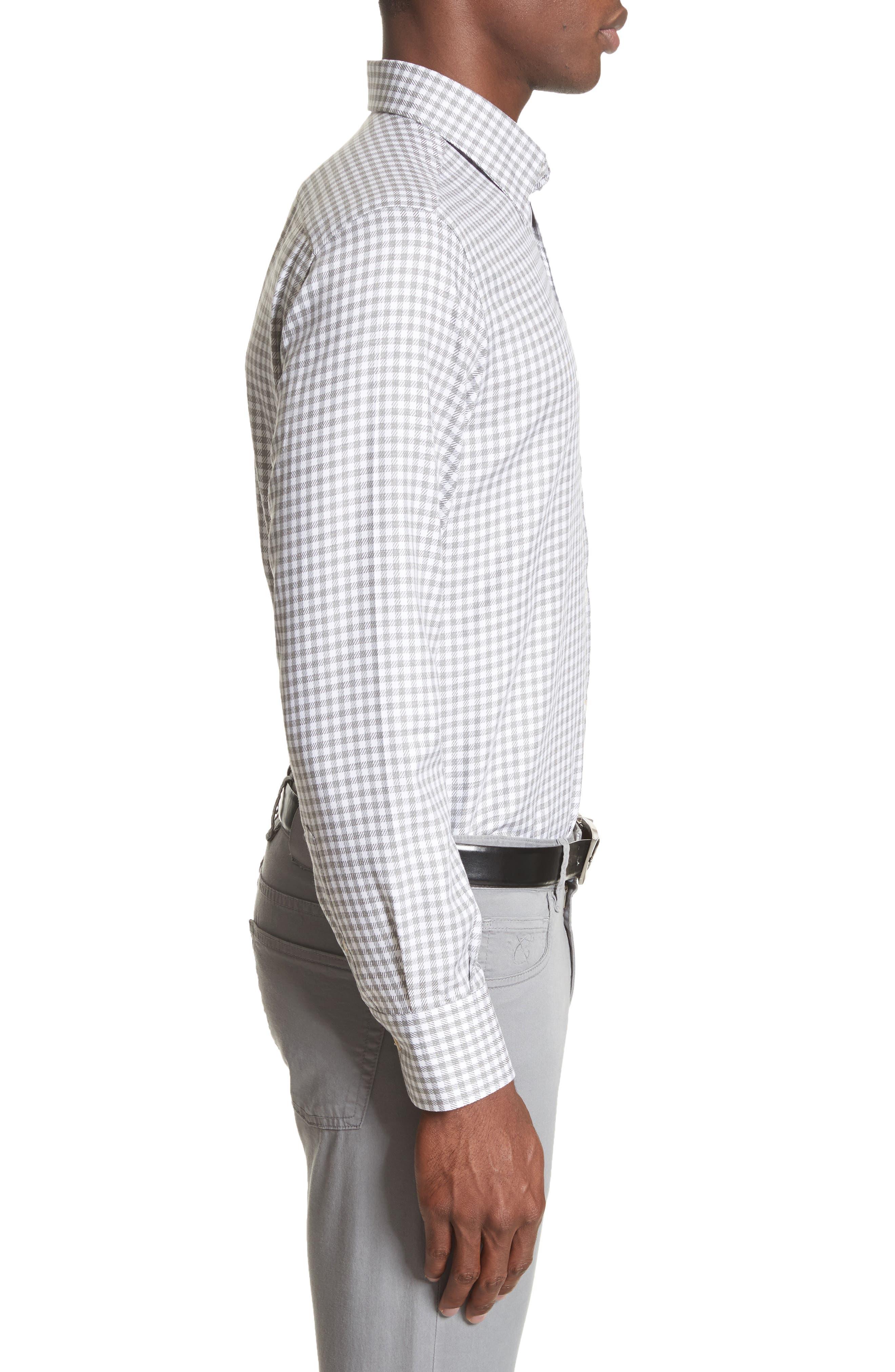 Alternate Image 3  - Canali Shepherds Check Sport Shirt