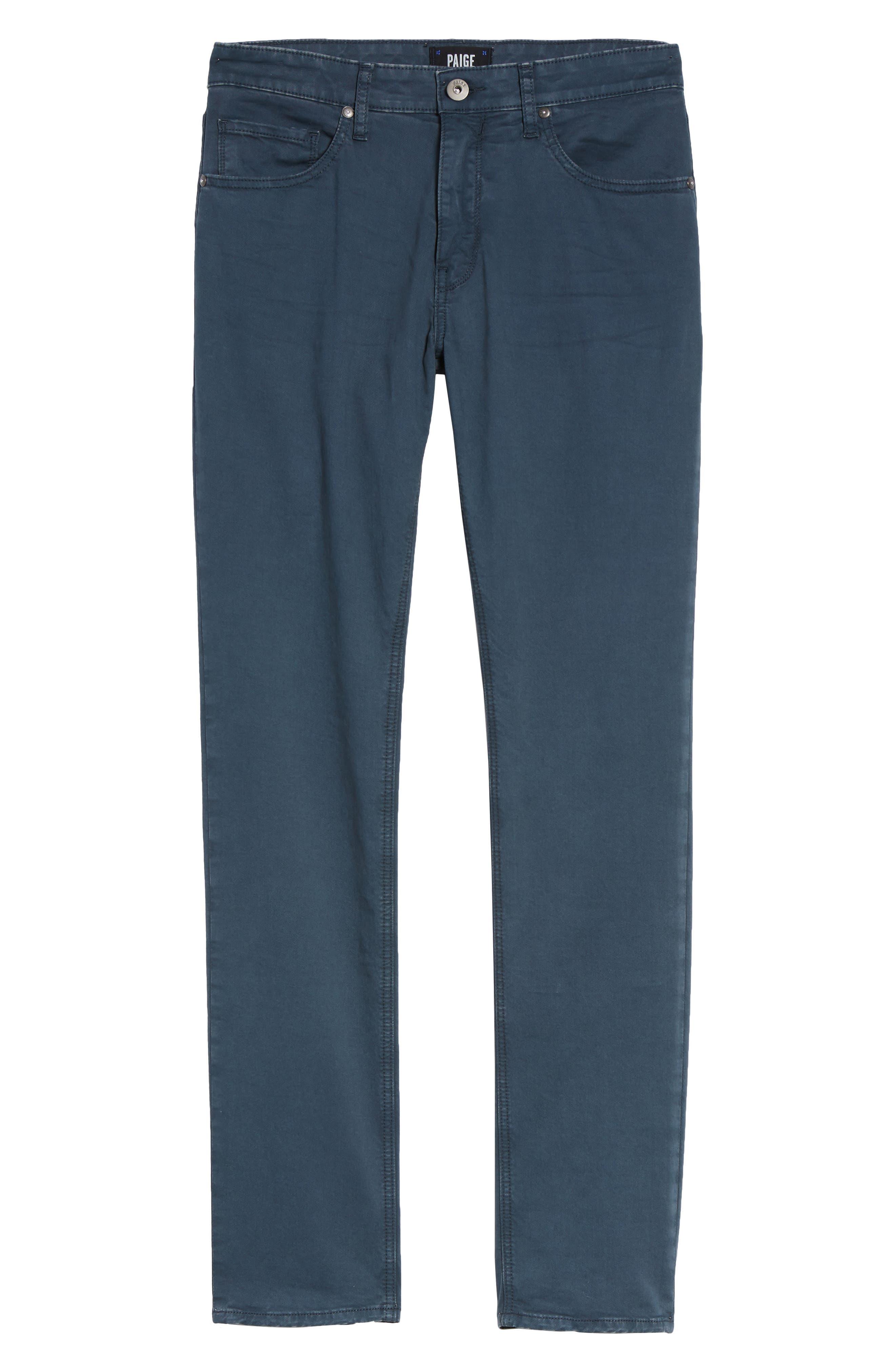 Alternate Image 5  - PAIGE Lennox Slim Fit Five-Pocket Pants