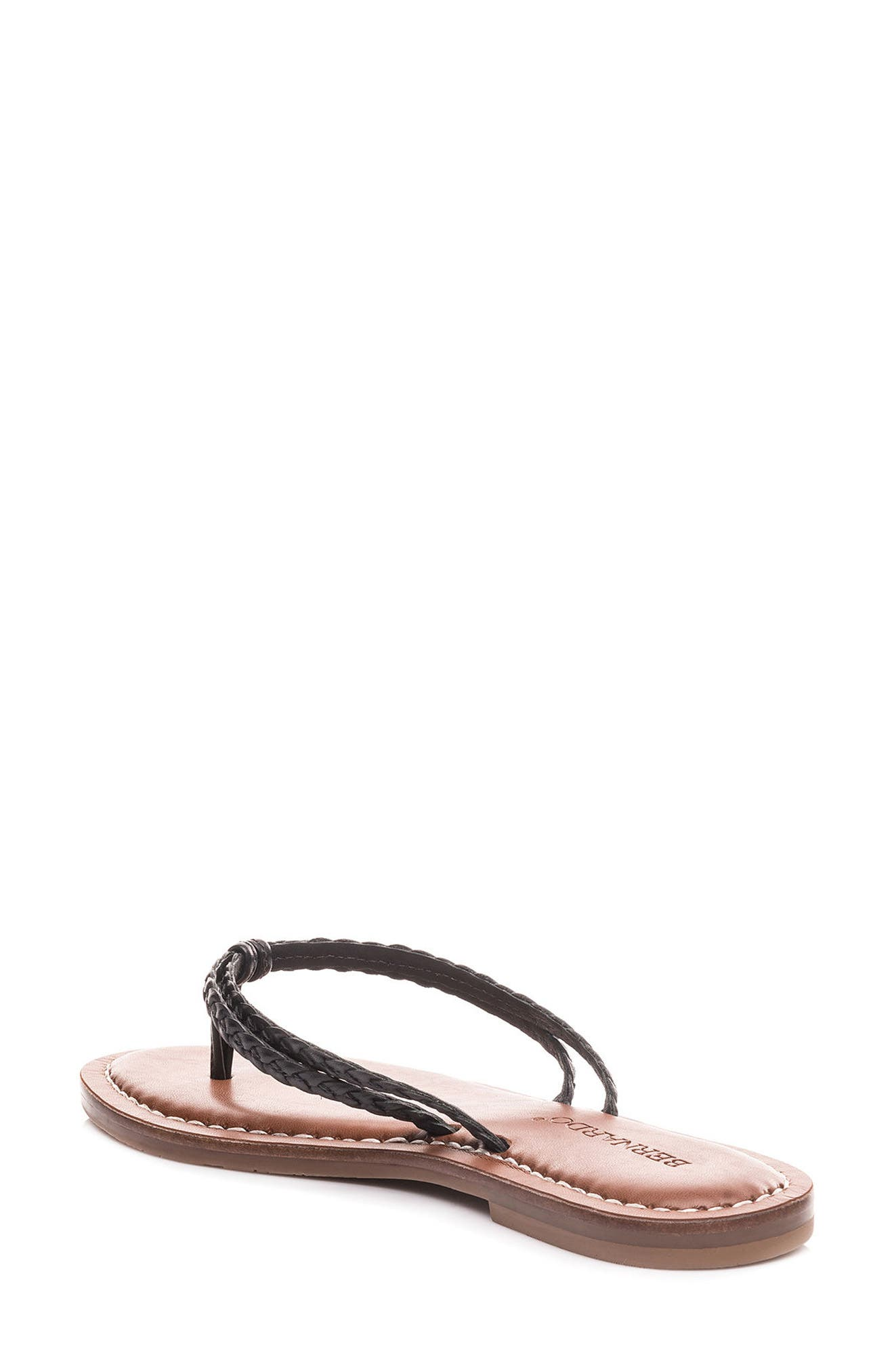 Bernardo Greta Braided Strap Sandal,                             Alternate thumbnail 2, color,                             Black Leather