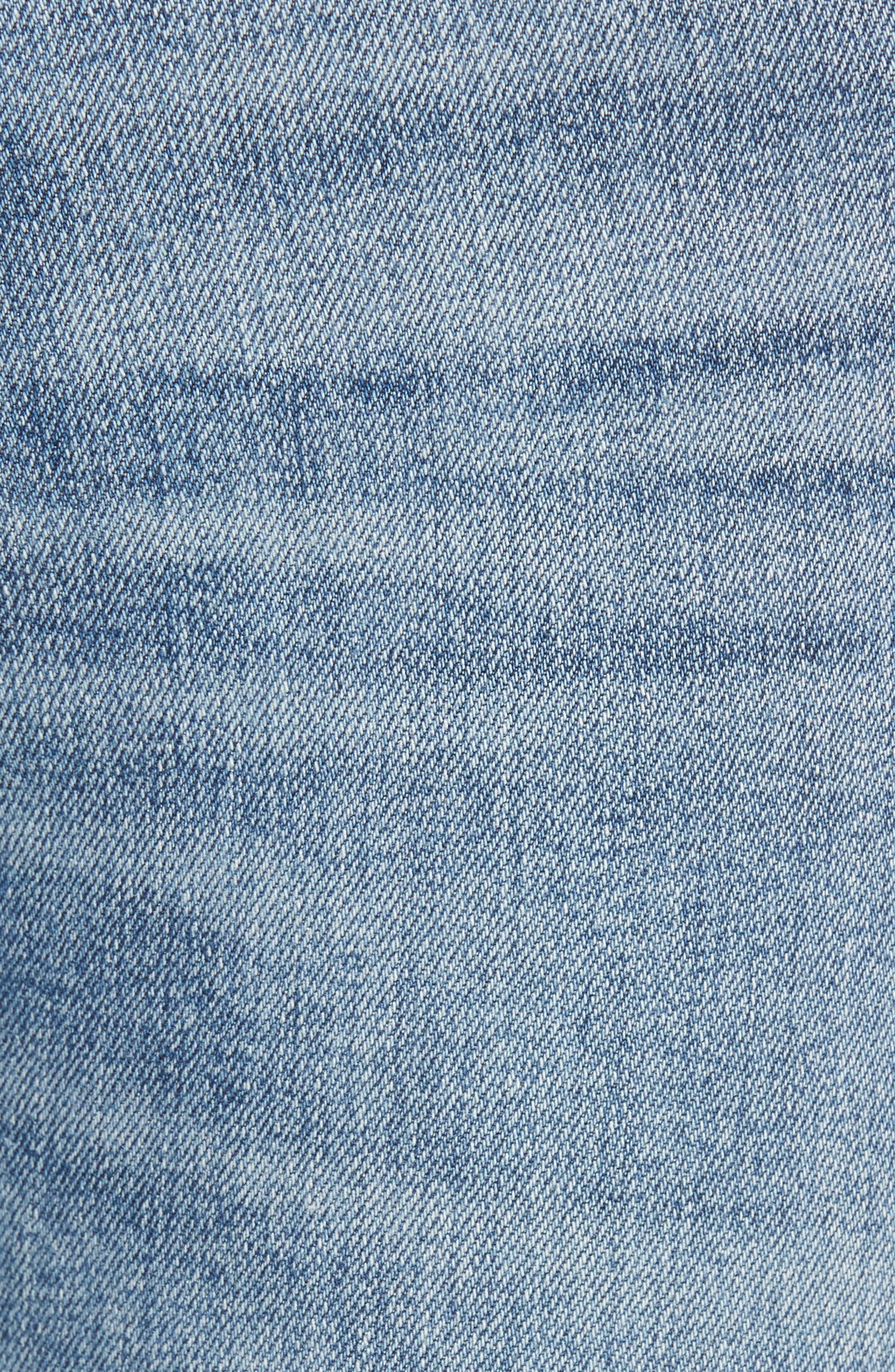 Alternate Image 5  - AGOLDE Sophie Distressed High Waist Skinny Jeans (Outsider)