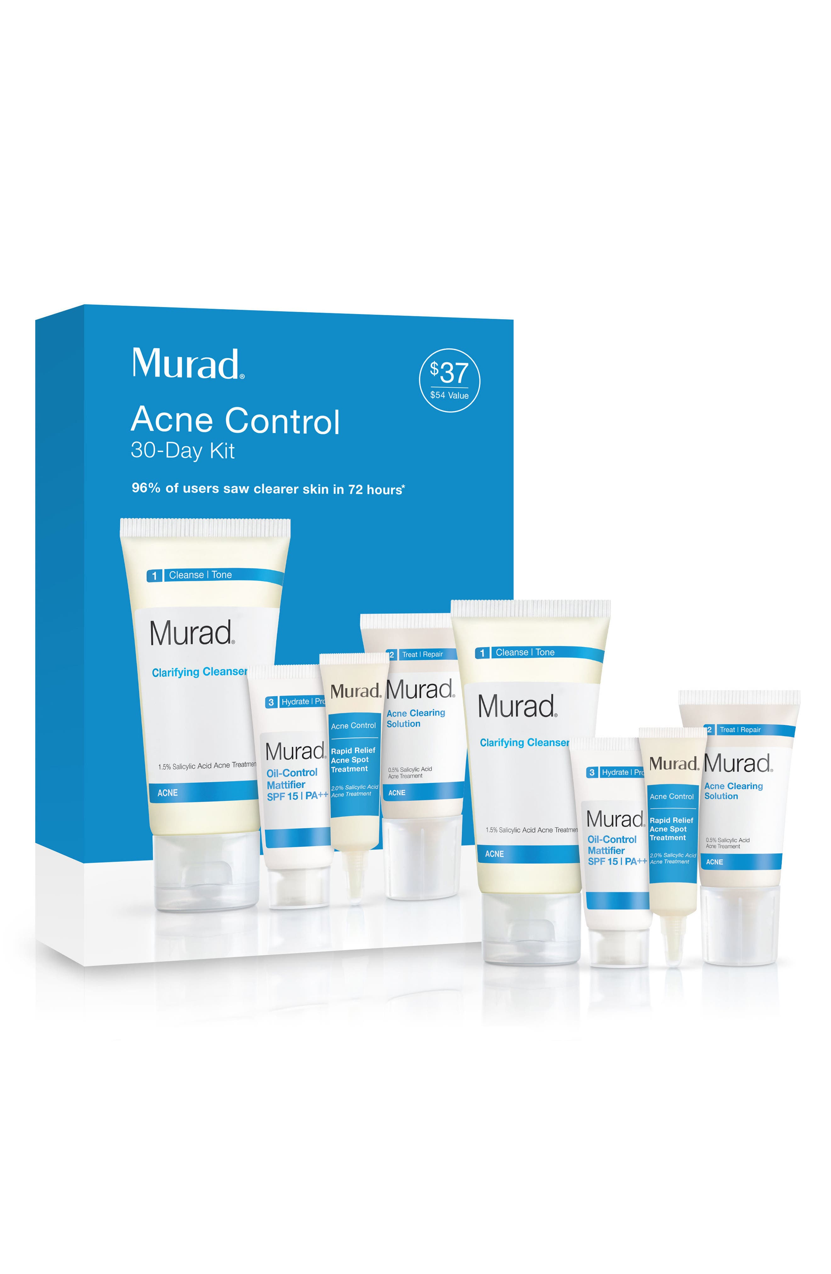 Acne Control 30-Day Kit,                         Main,                         color, No Color