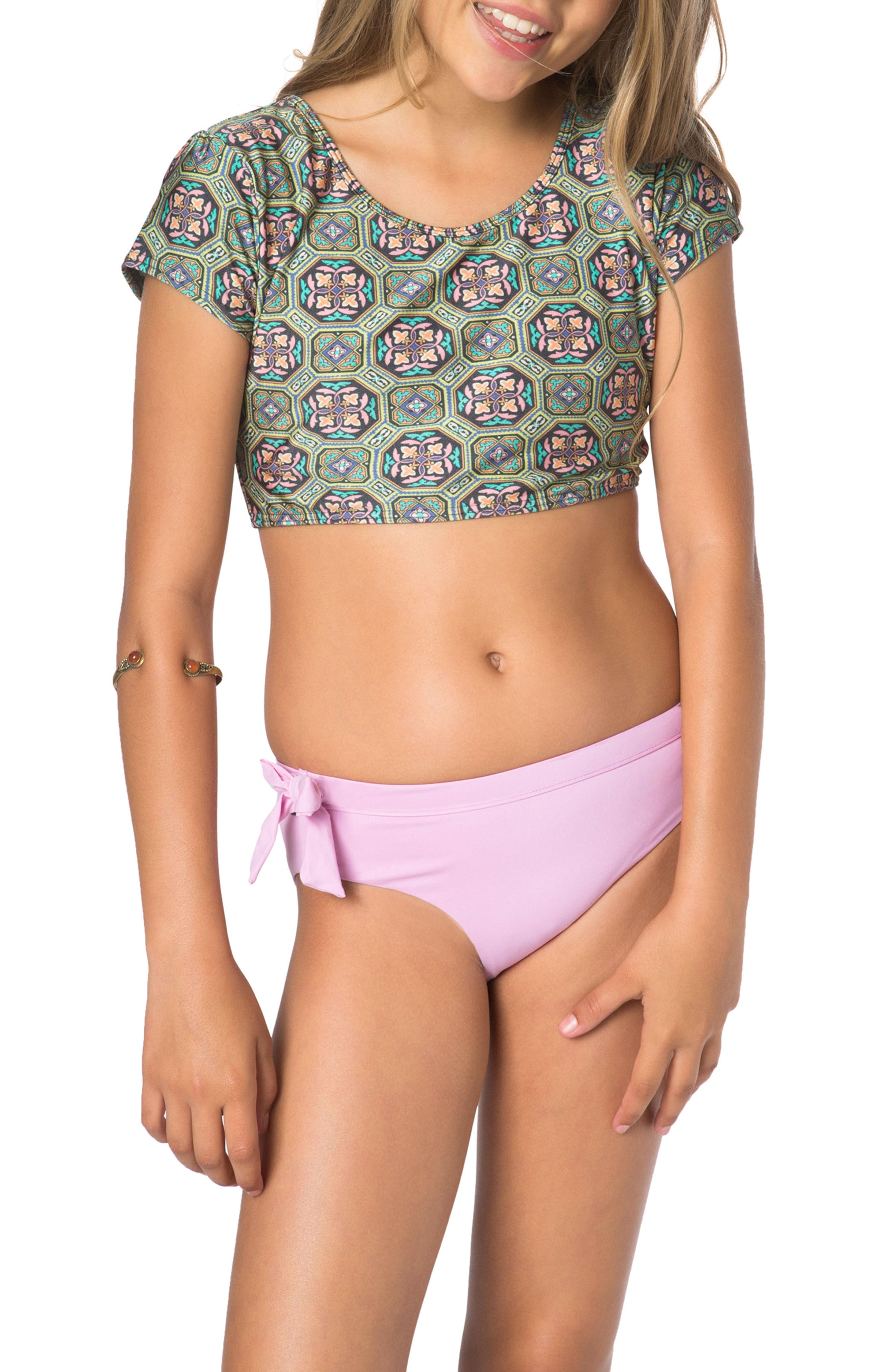 Evelyn Two-Piece Swimsuit,                             Main thumbnail 1, color,                             Green Multi