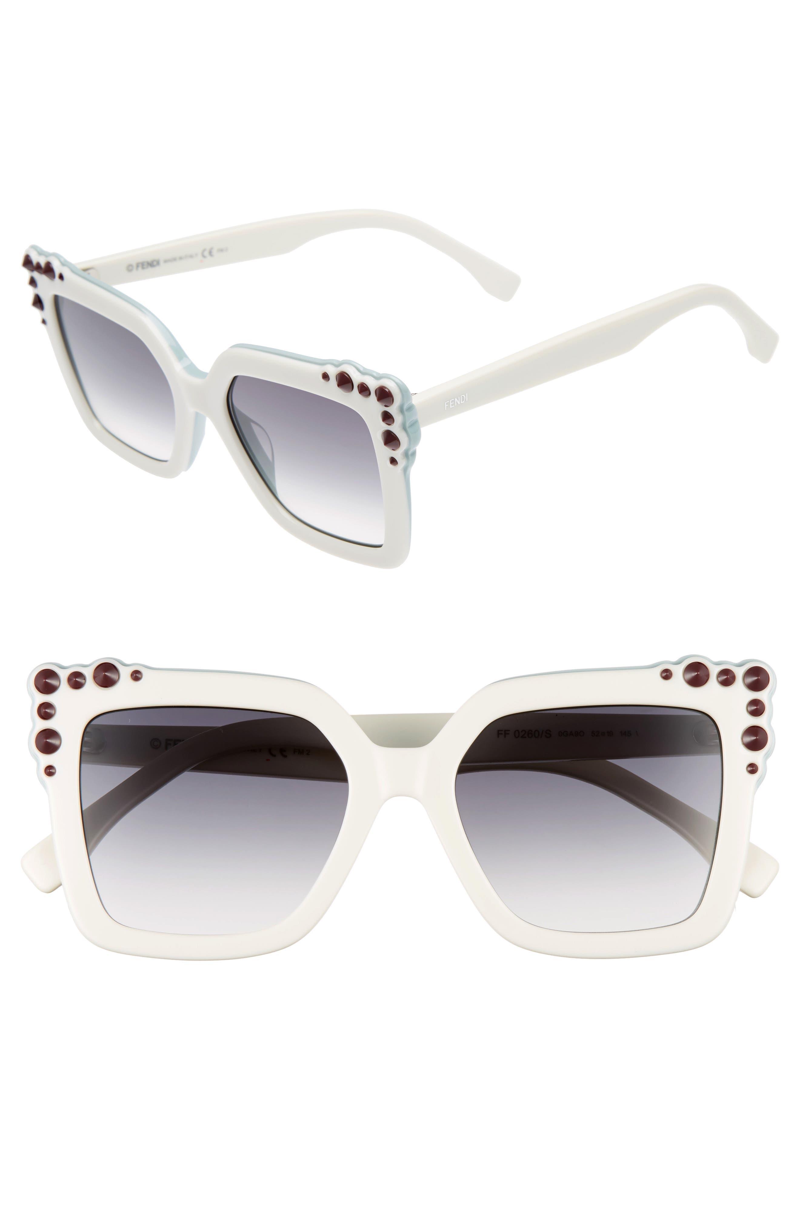 Alternate Image 1 Selected - Fendi 52mm Gradient Cat Eye Sunglasses