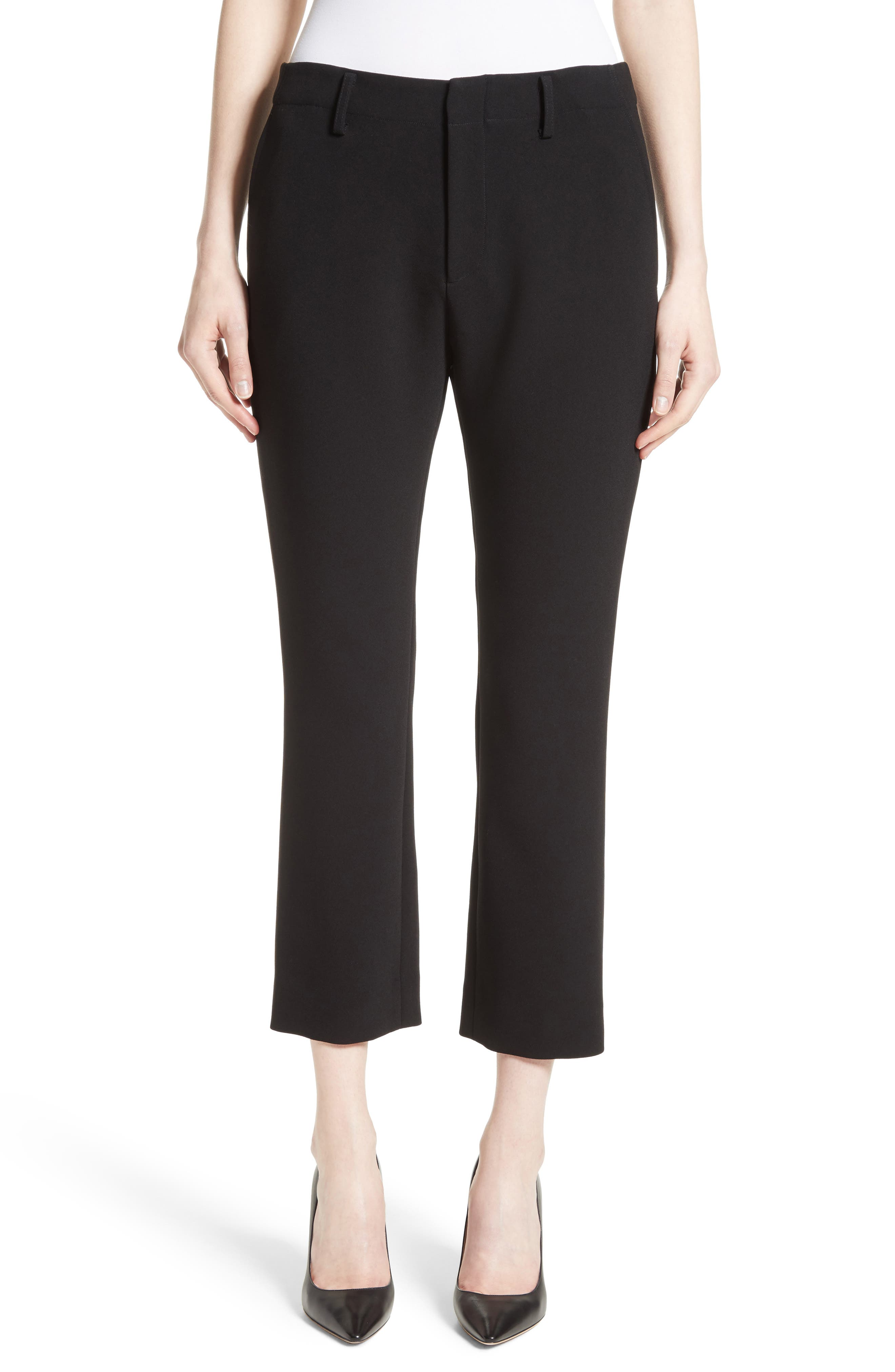 Crop Cigarette Pants,                             Main thumbnail 1, color,                             Black