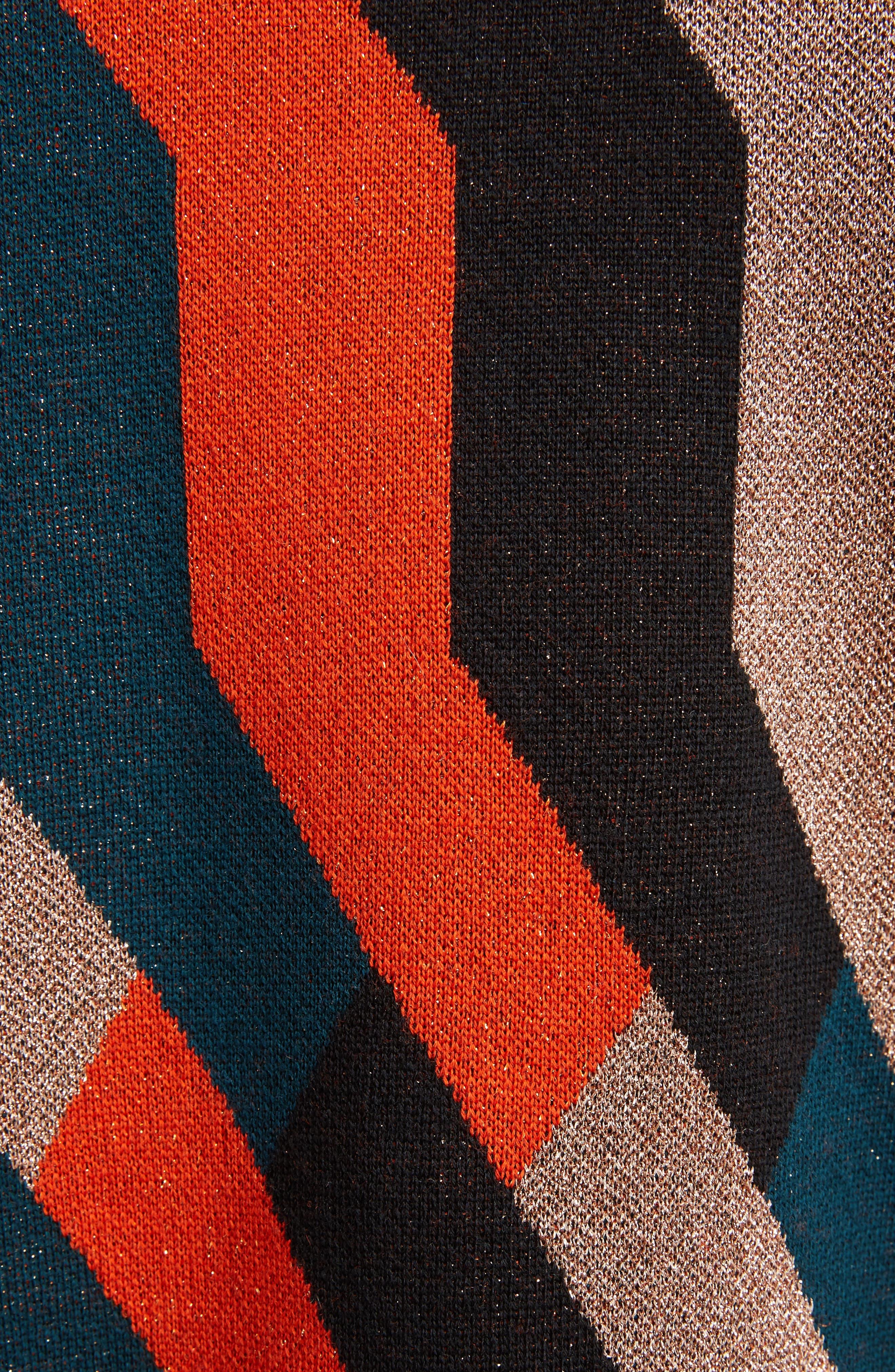 Graphic Knit Merino Wool Cardigan,                             Alternate thumbnail 3, color,                             Skin