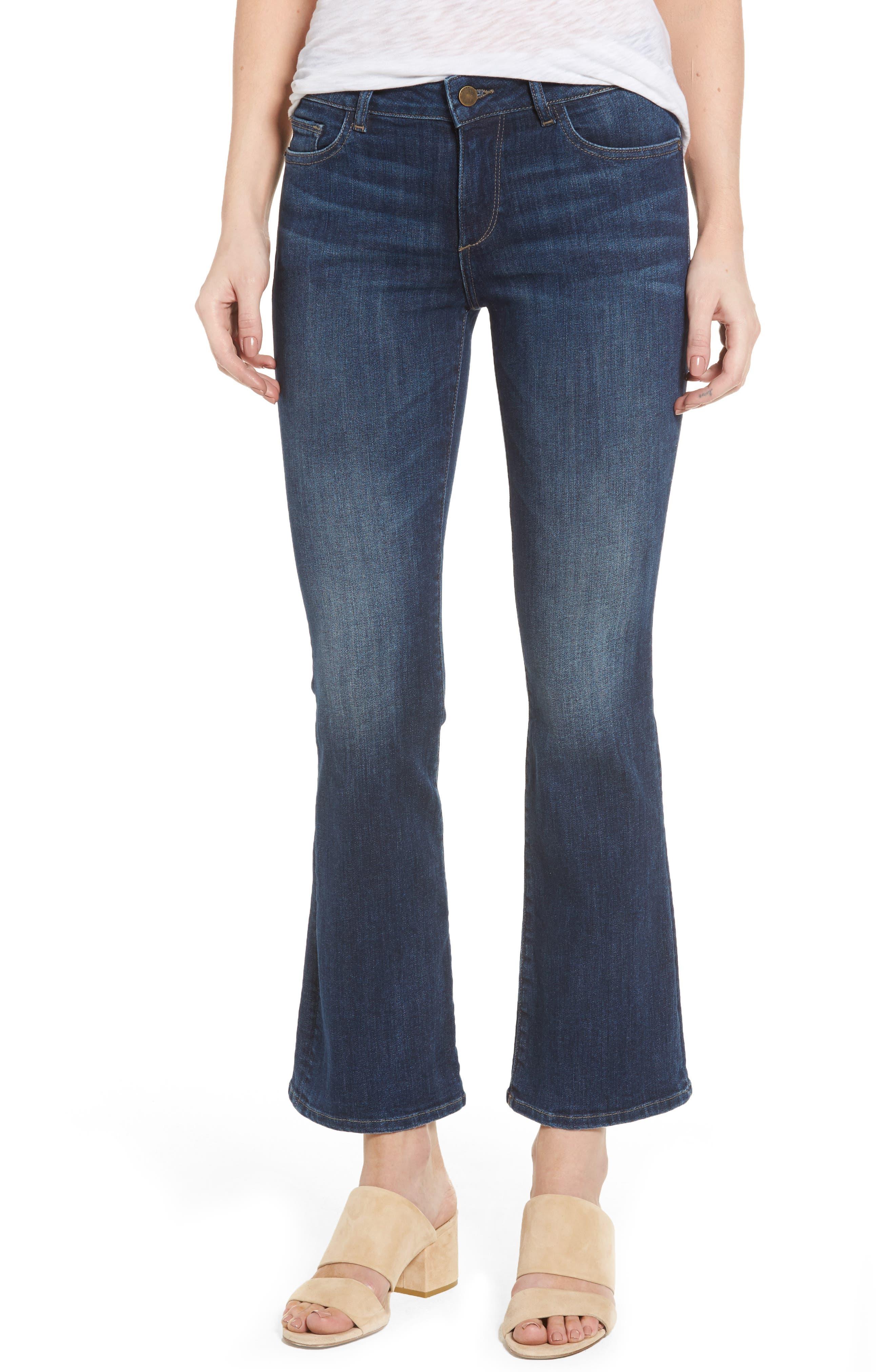 Abbey Bootcut Jeans,                         Main,                         color, Maize