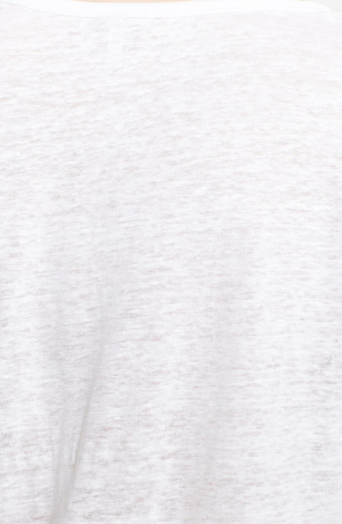 'Rancher J' Graphic Burnout Linen Top,                             Alternate thumbnail 3, color,                             Porcelain
