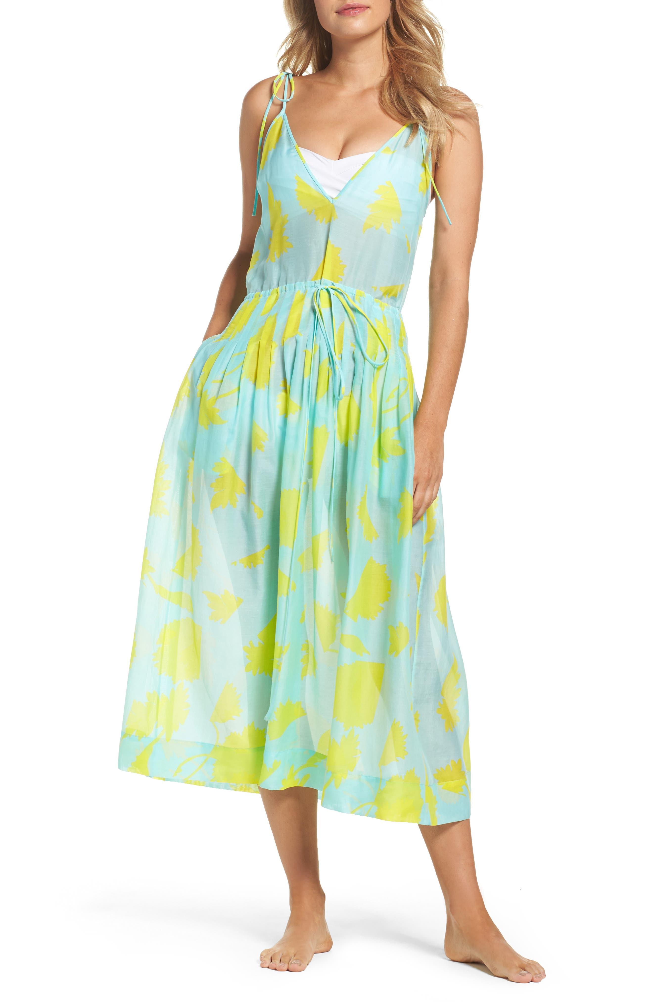 Cover-Up Midi Dress,                         Main,                         color, Cardan Lr