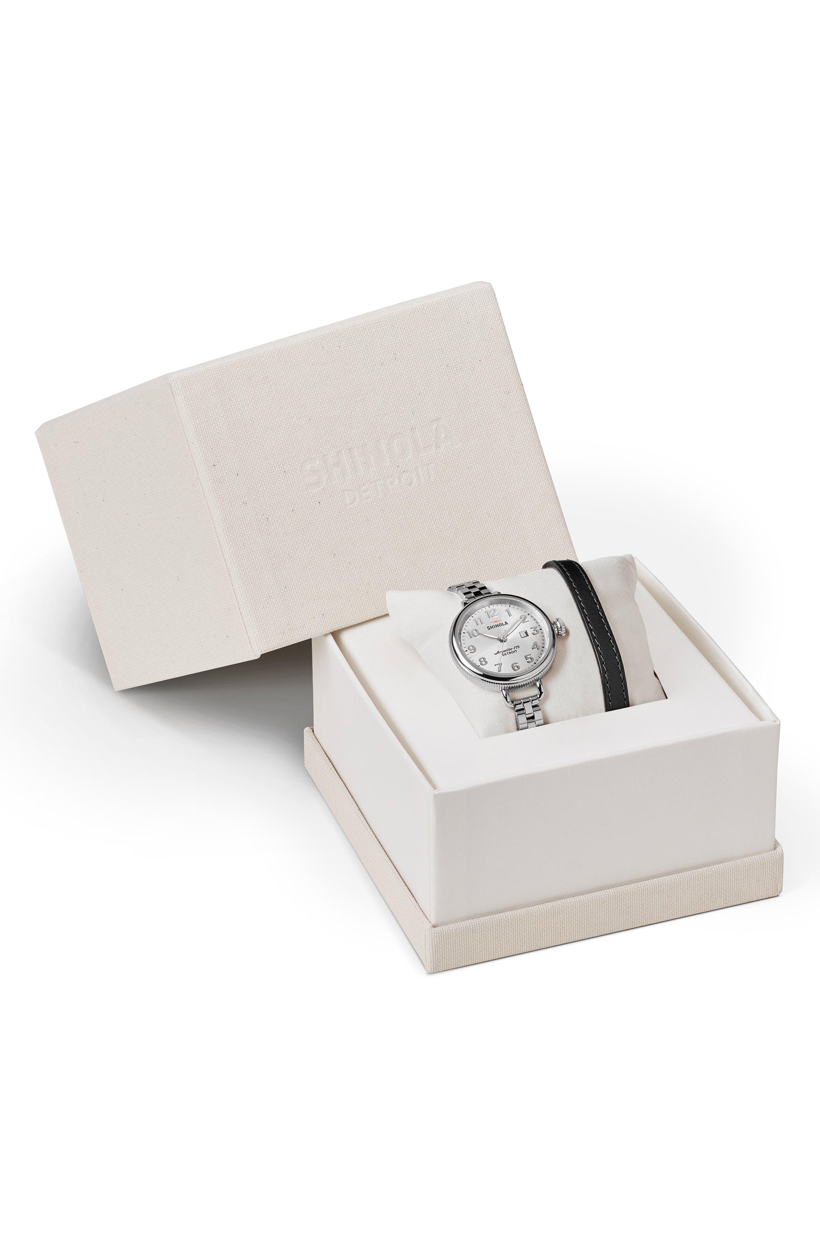 Main Image - Shinola The Birdy Watch Gift Set, 34mm
