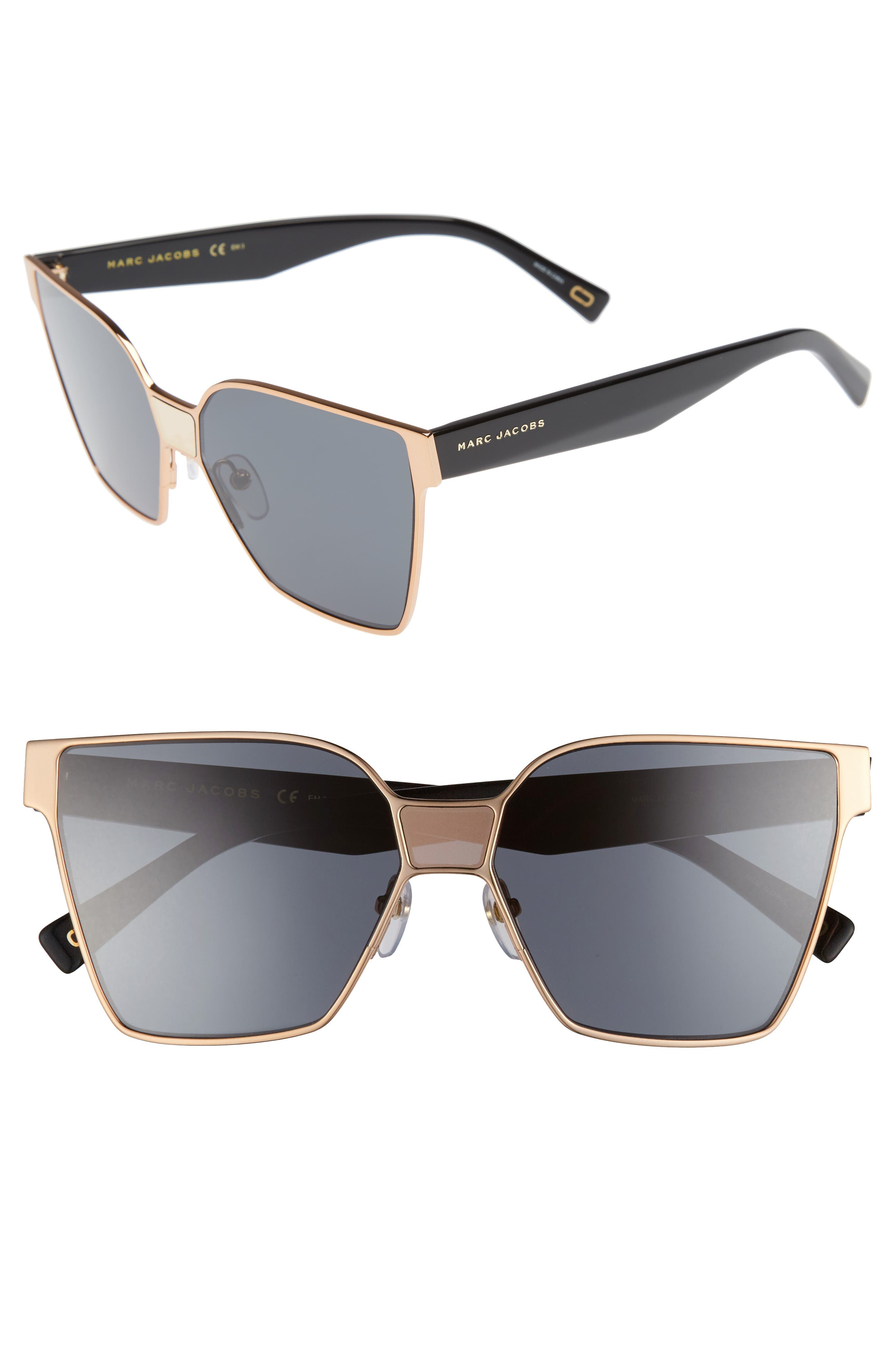 MARC JACOBS 60mm Square Sunglasses