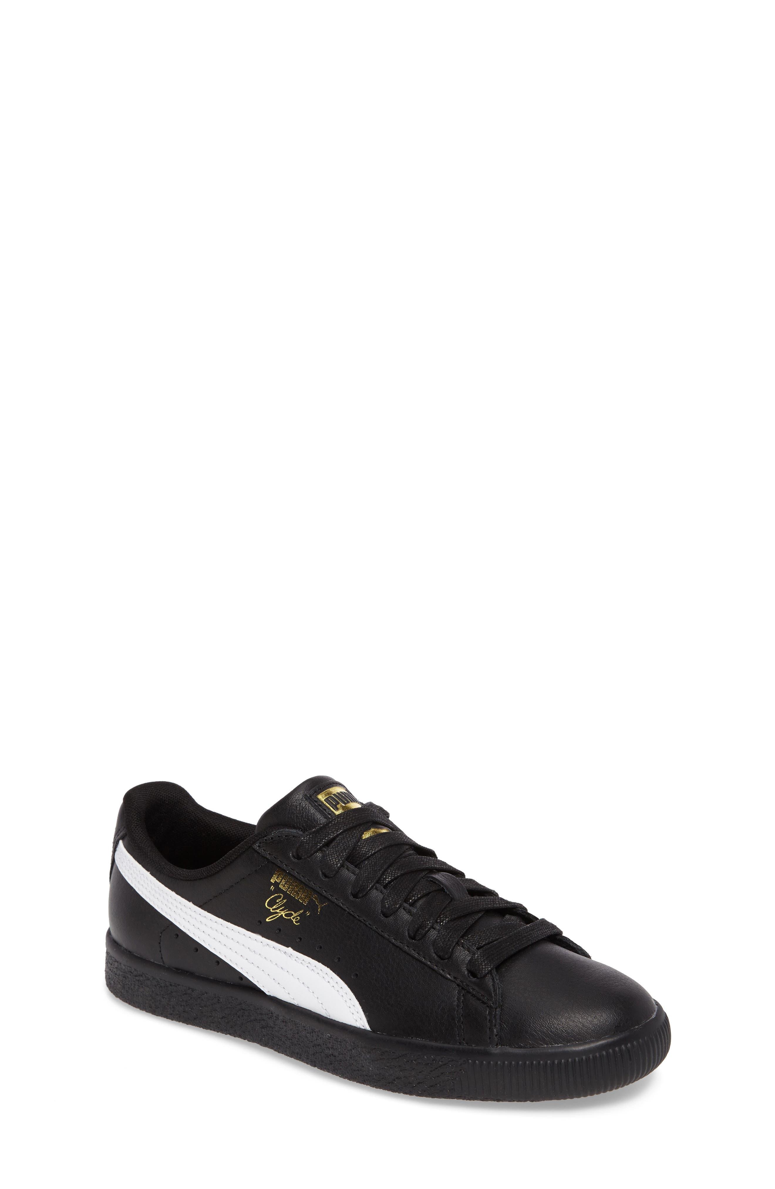 PUMA Clyde Core Foil Sneaker (Big Kid)