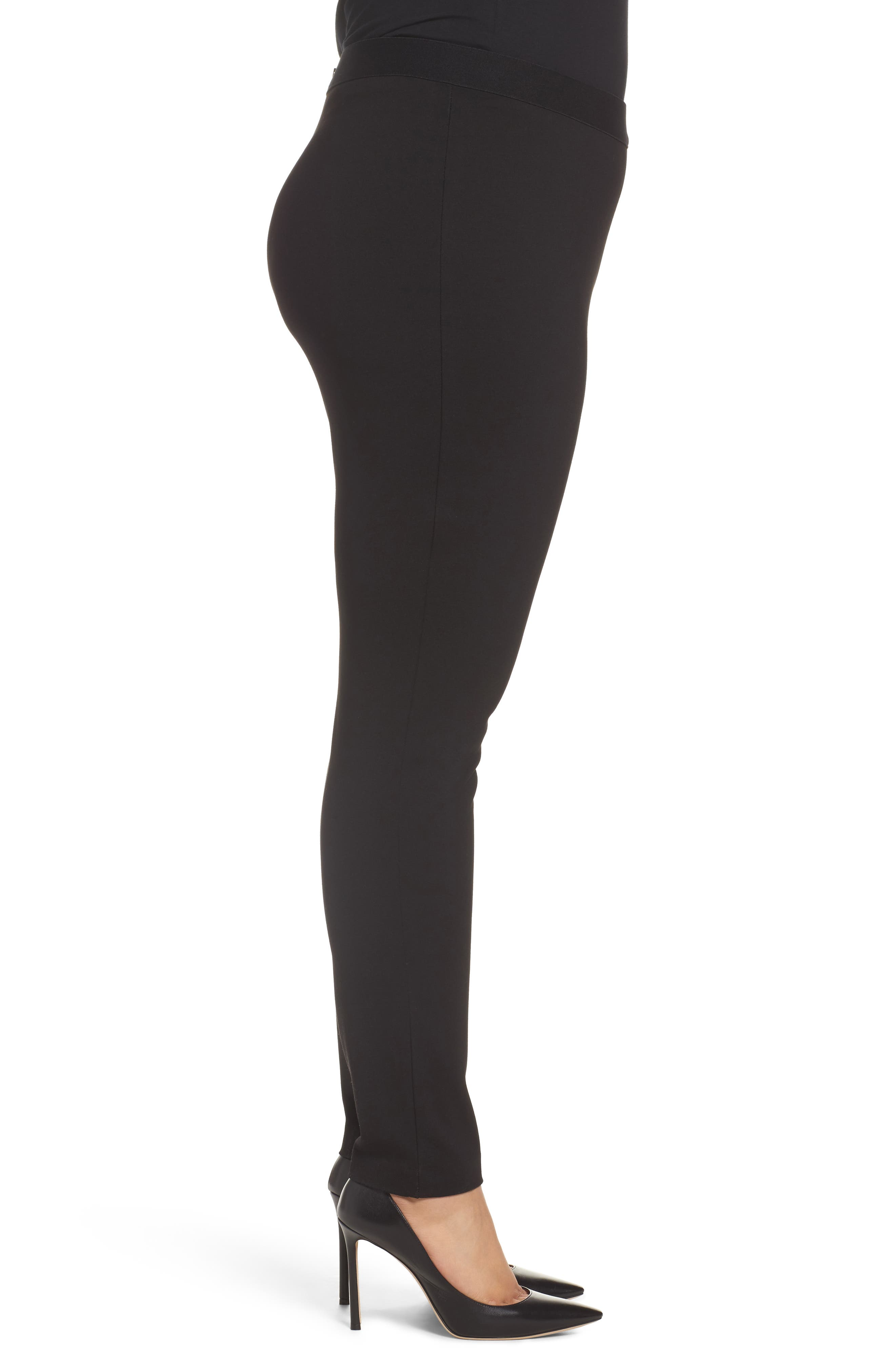 Alternate Image 3  - Foxcroft Naomi Ponte Jodphur Pants (Plus Size)