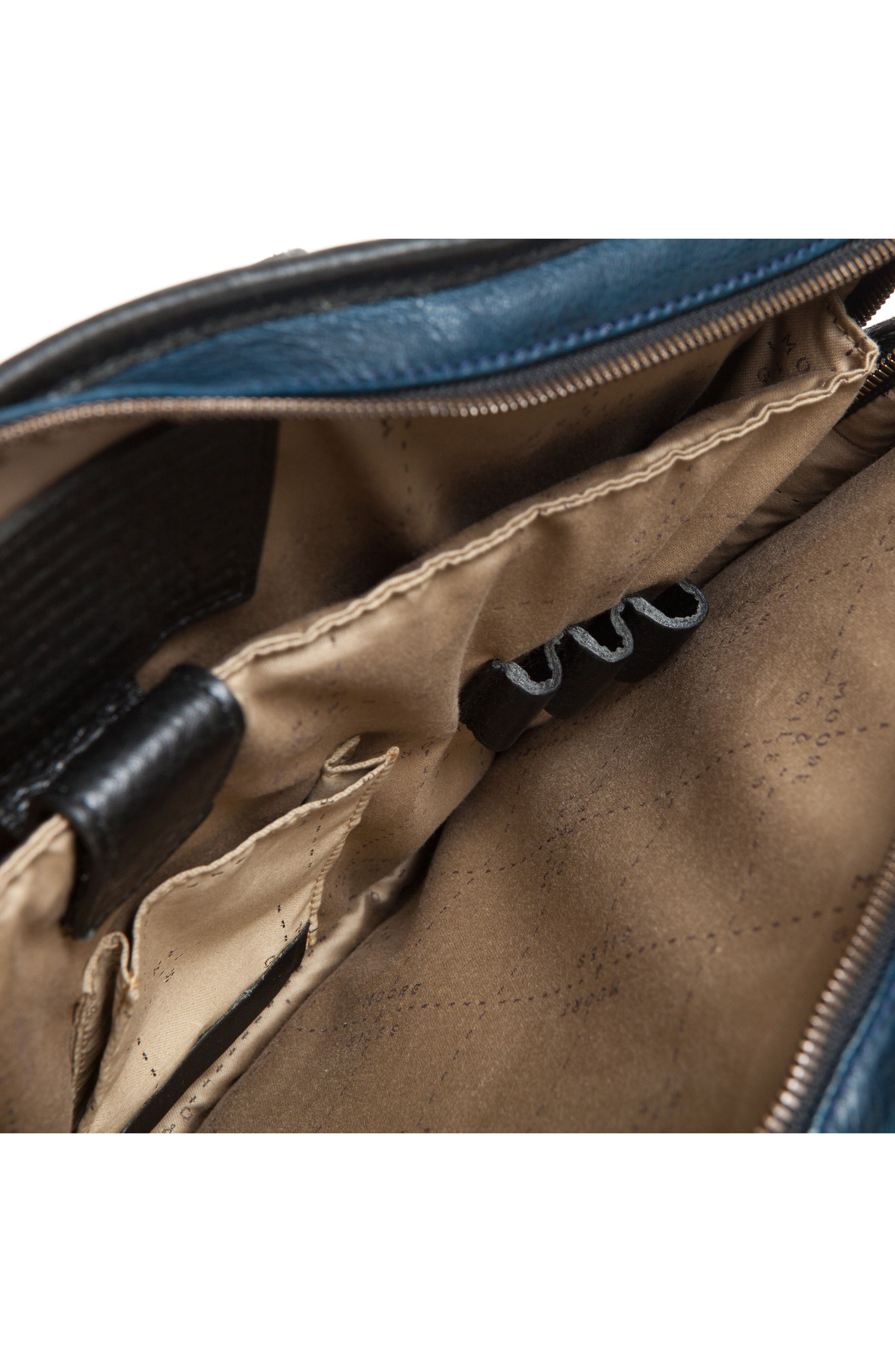 Miller Leather Briefcase,                             Alternate thumbnail 11, color,                             Titan Milled Navy And Gunmetal