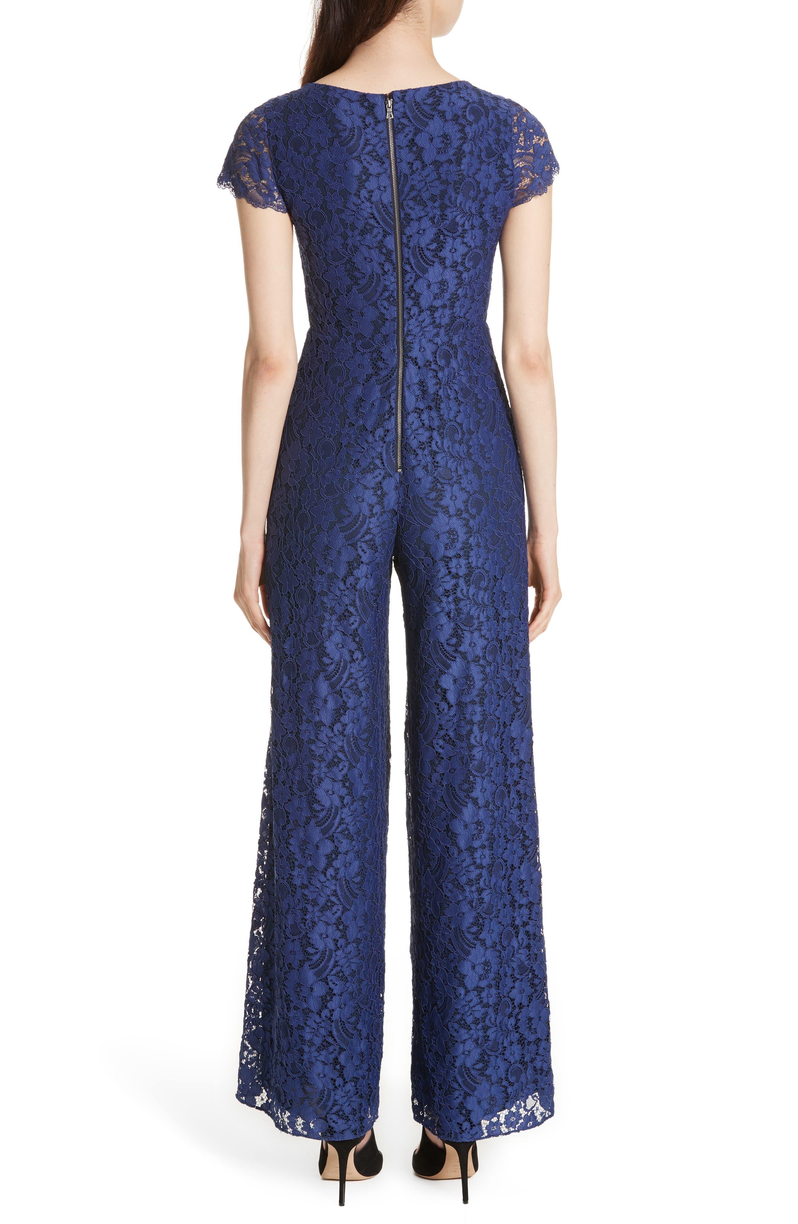 Mariam Lace Jumpsuit,                             Alternate thumbnail 2, color,                             Sapphire