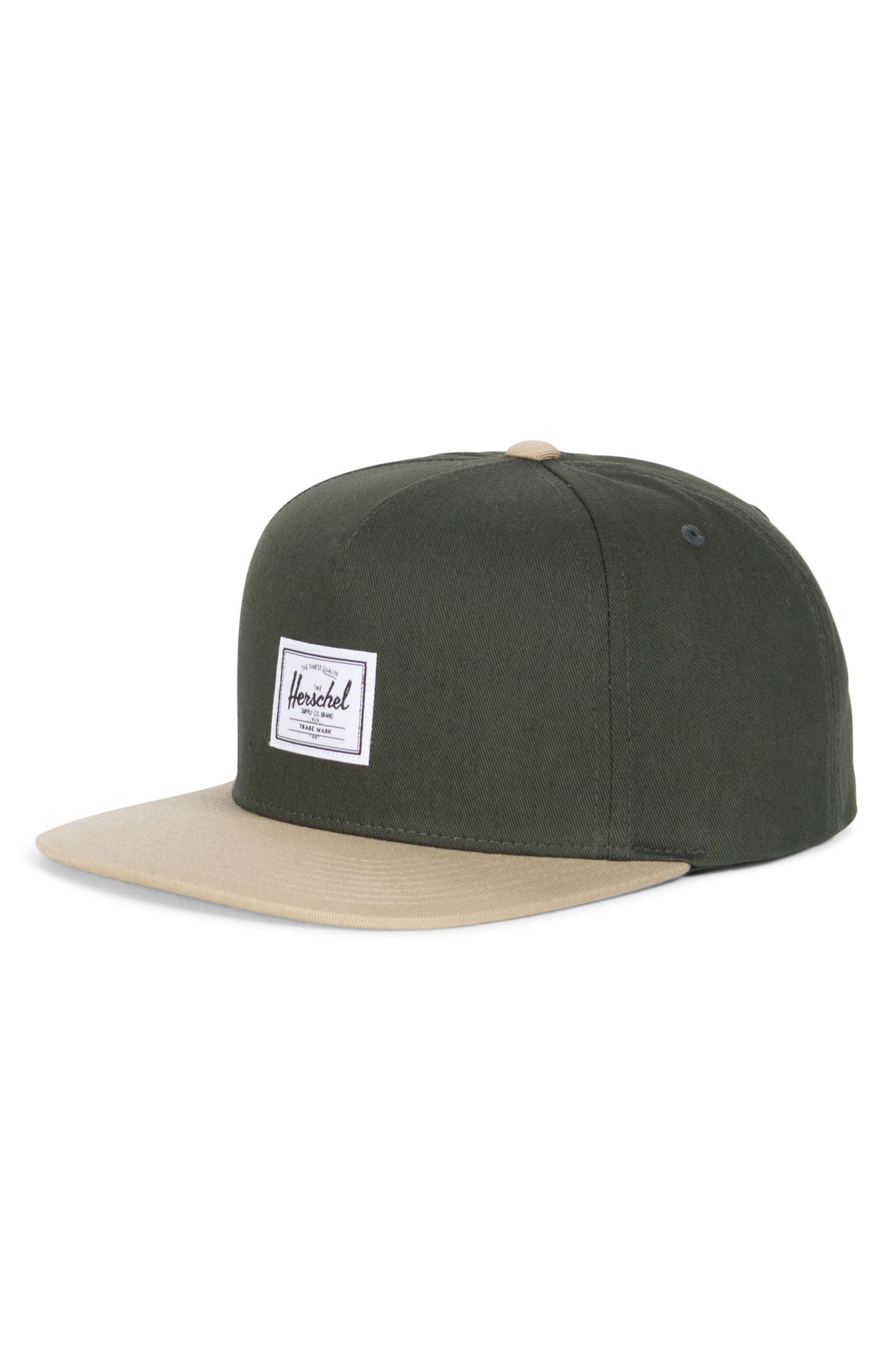 Dean Snapback Baseball Cap,                         Main,                         color, Forest Night/ Khaki