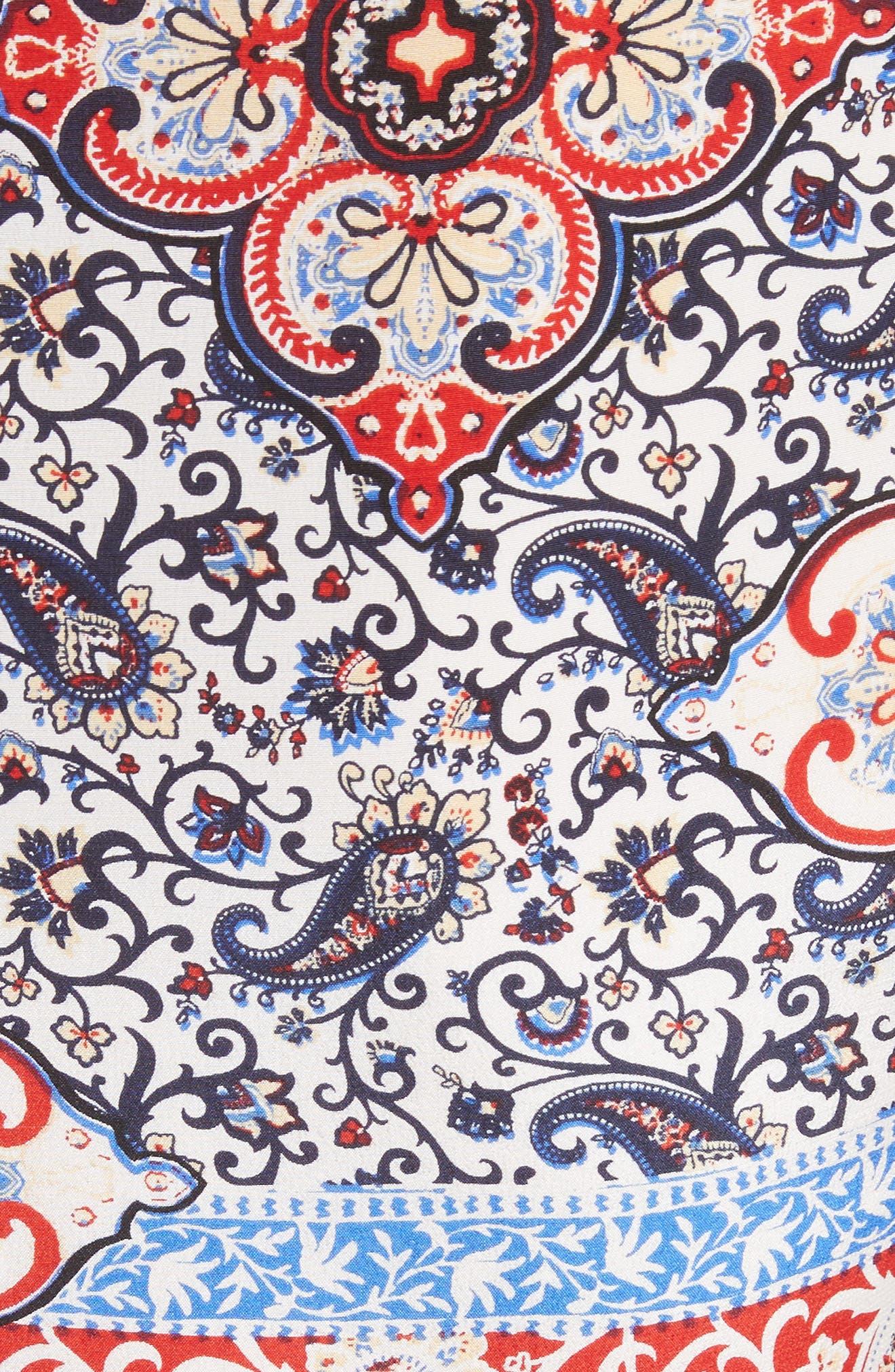 Alternate Image 5  - L'AGENCE Rosalia Print Silk Maxi Dress