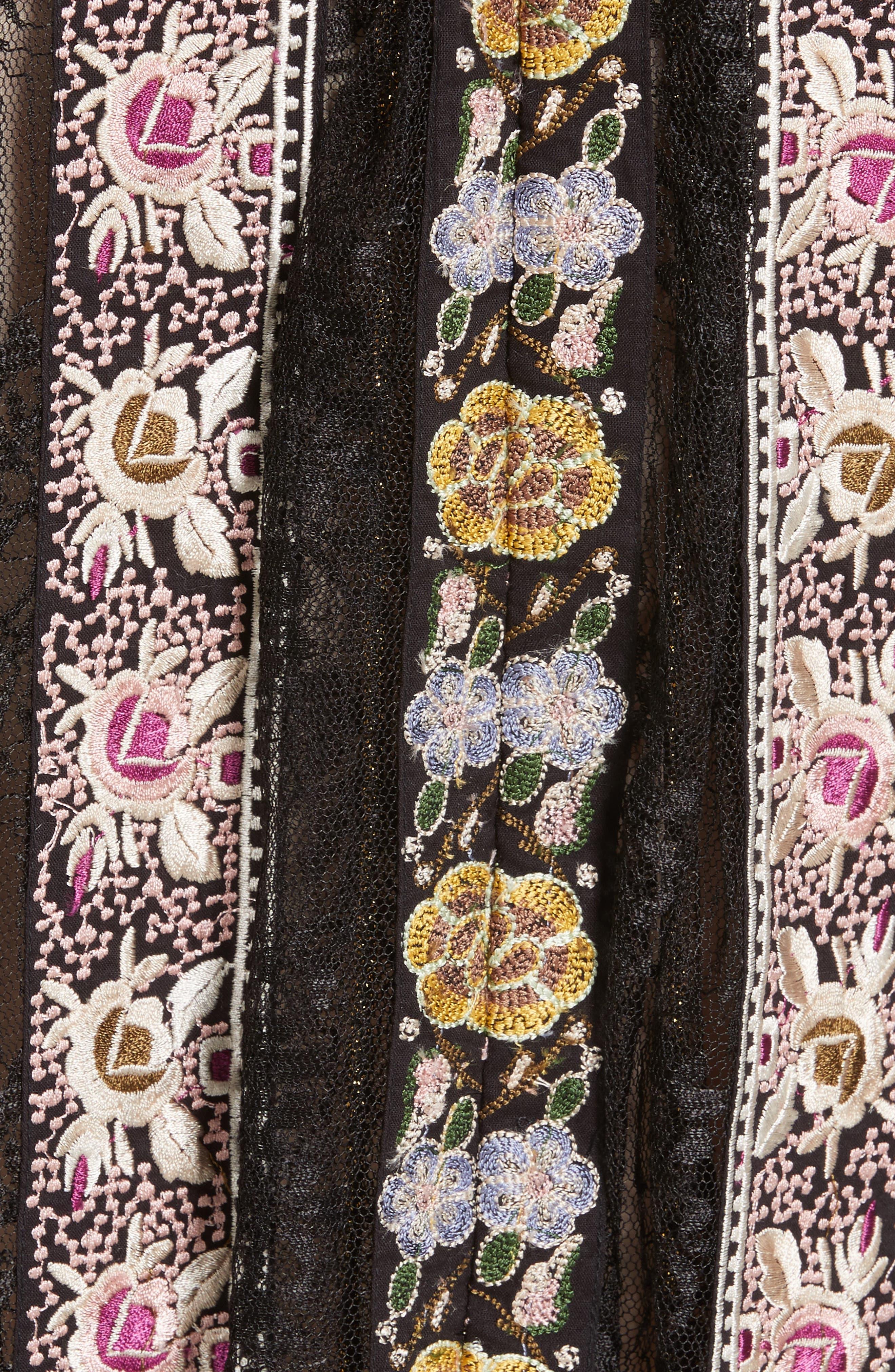Alternate Image 5  - Alice + Olivia Birdie Flower Embroidered Skirt