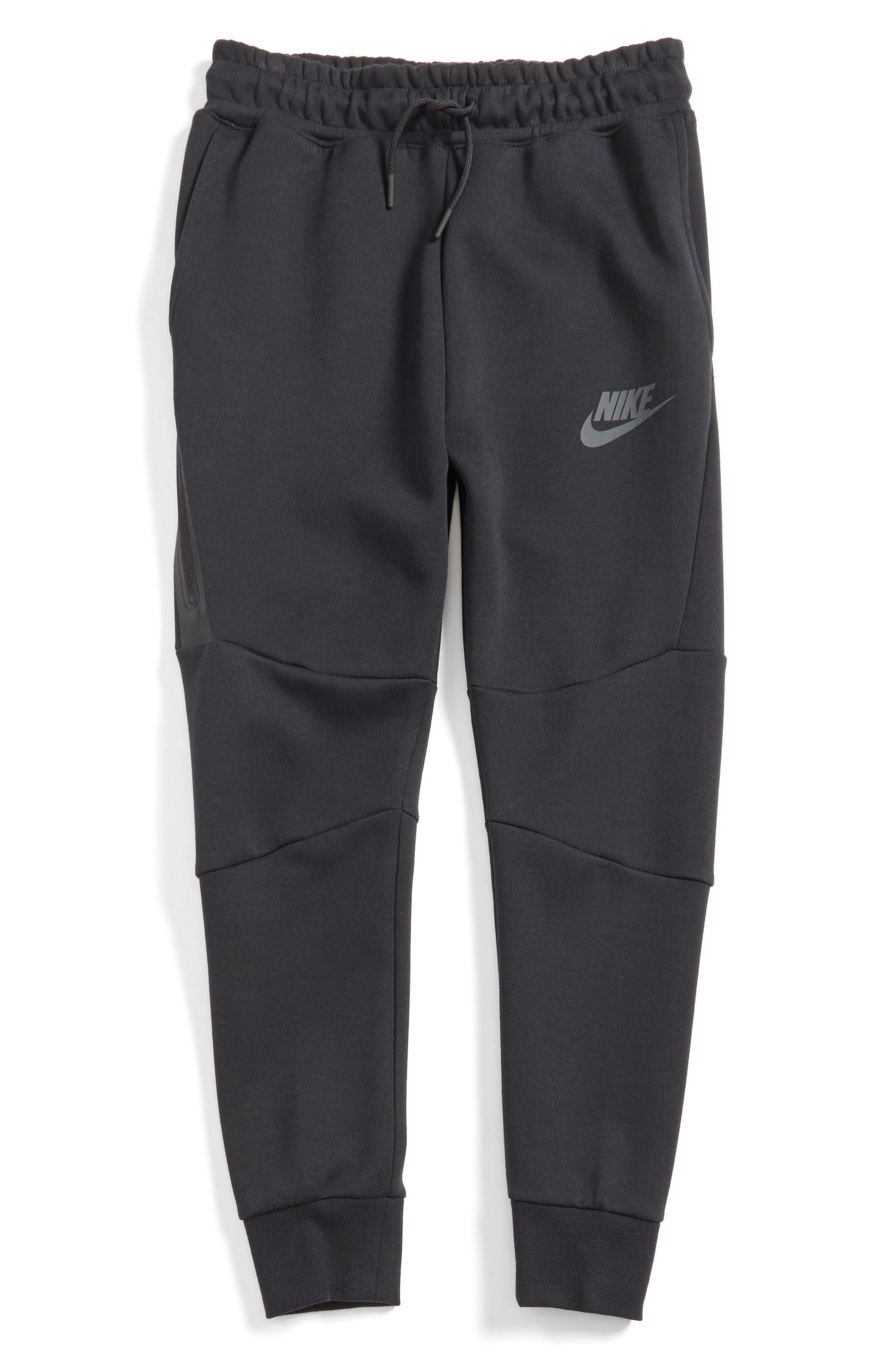Tech Fleece Pants,                         Main,                         color, Black/ Anthracite