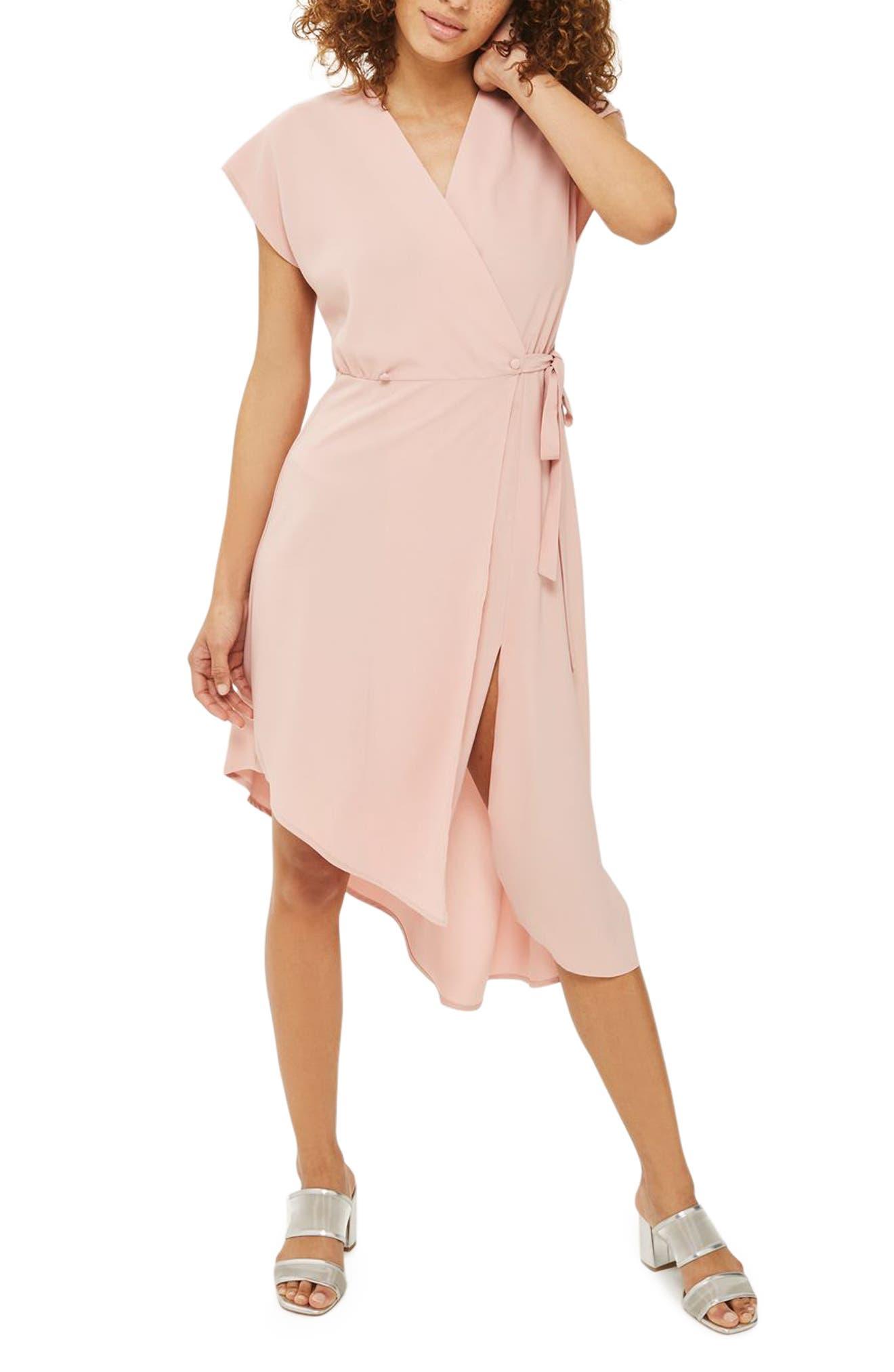 Topshop Emily Asymmetrical Wrap Dress