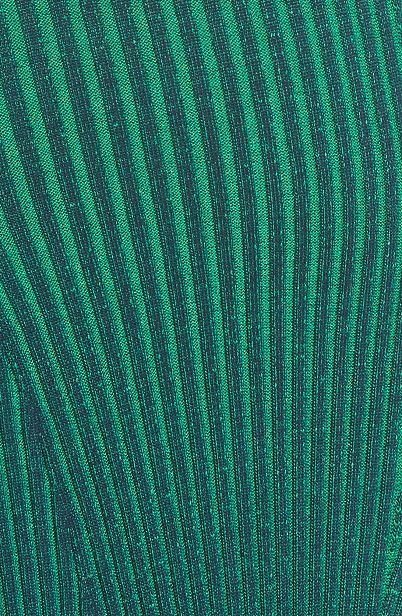 Ribbed Maxi Dress,                             Alternate thumbnail 5, color,                             Navy With Emerald Combo