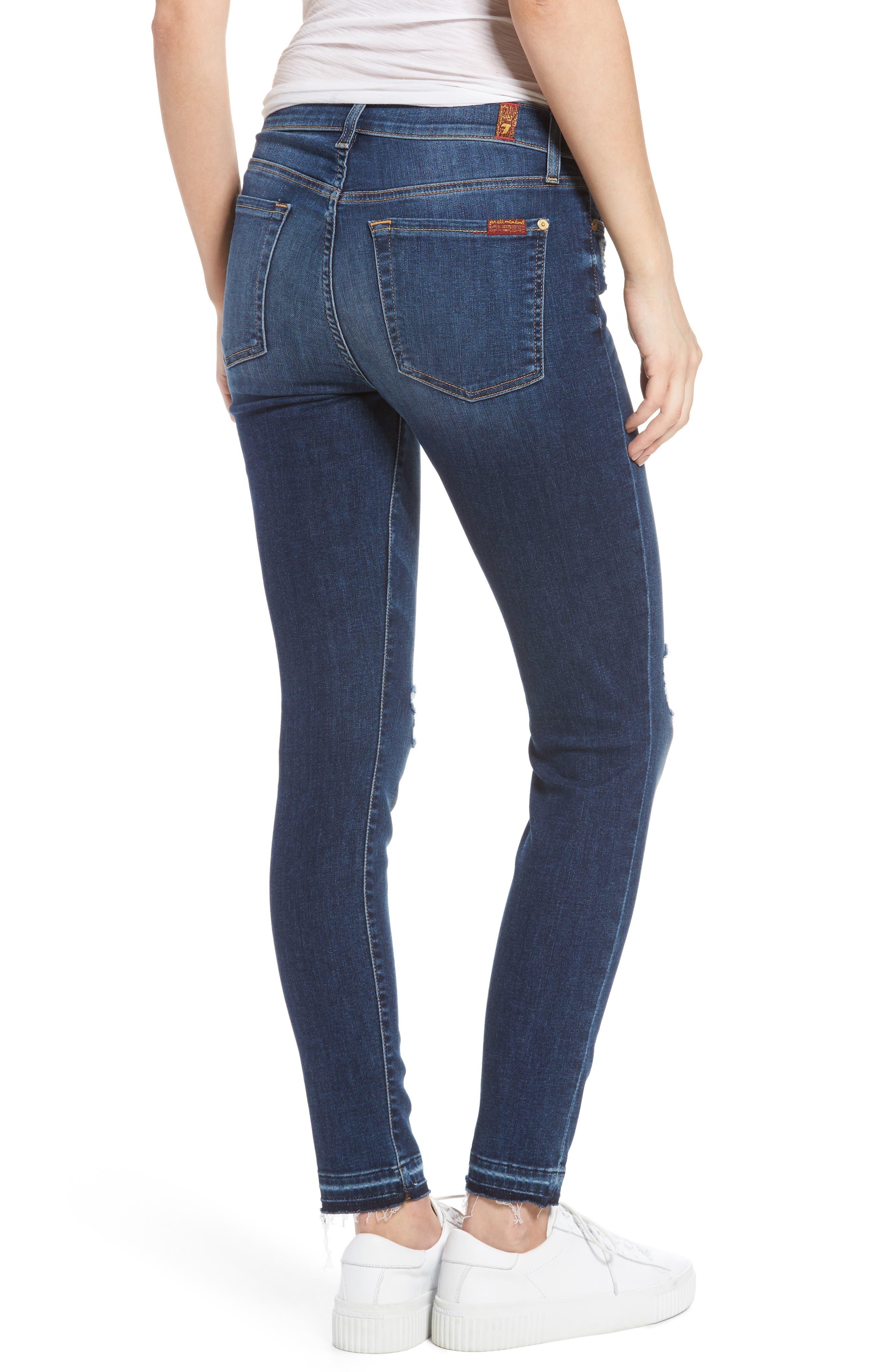 Alternate Image 2  - 7 For All Mankind® Ankle Skinny Jeans (Stunning Bleeker)