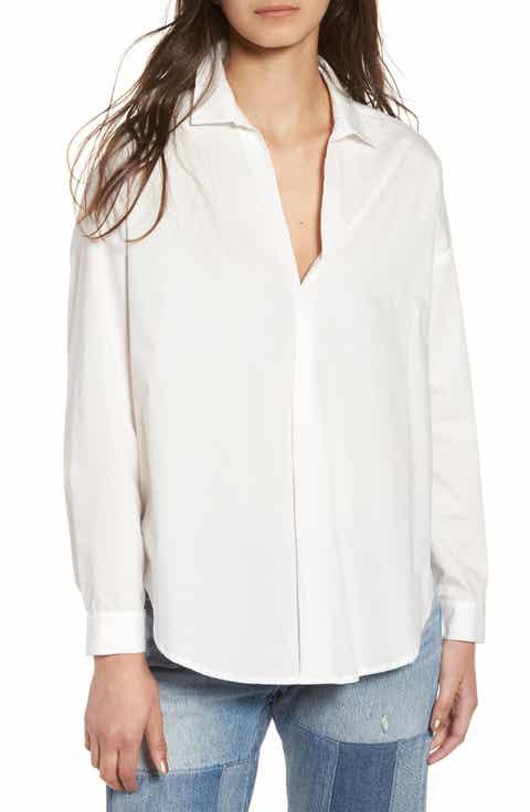 Women's White Shirts & Blouses Work Clothing | Nordstrom