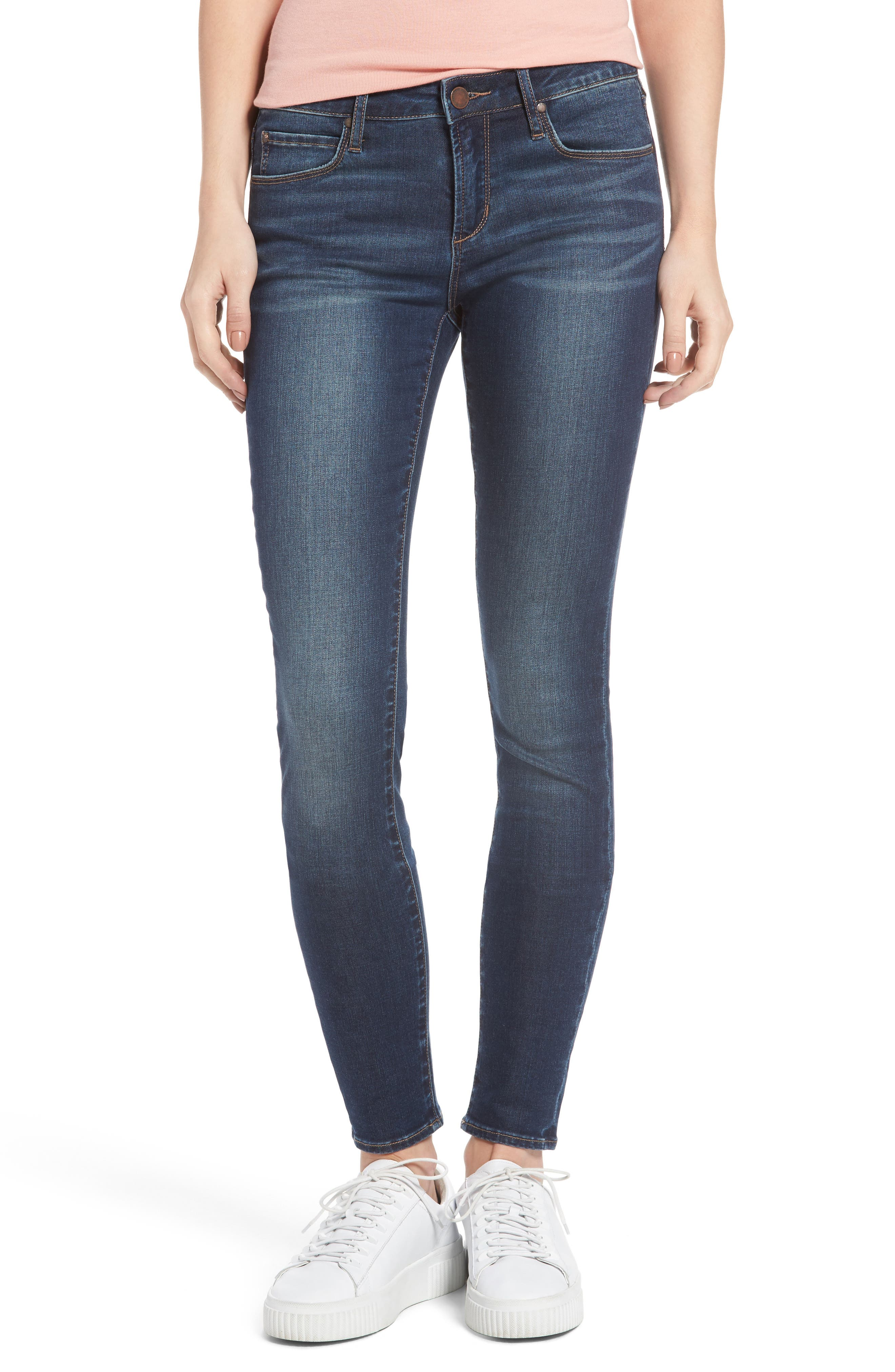 Alternate Image 1 Selected - Articles of Society Melody Skinny Jeans (Blue Ridge)