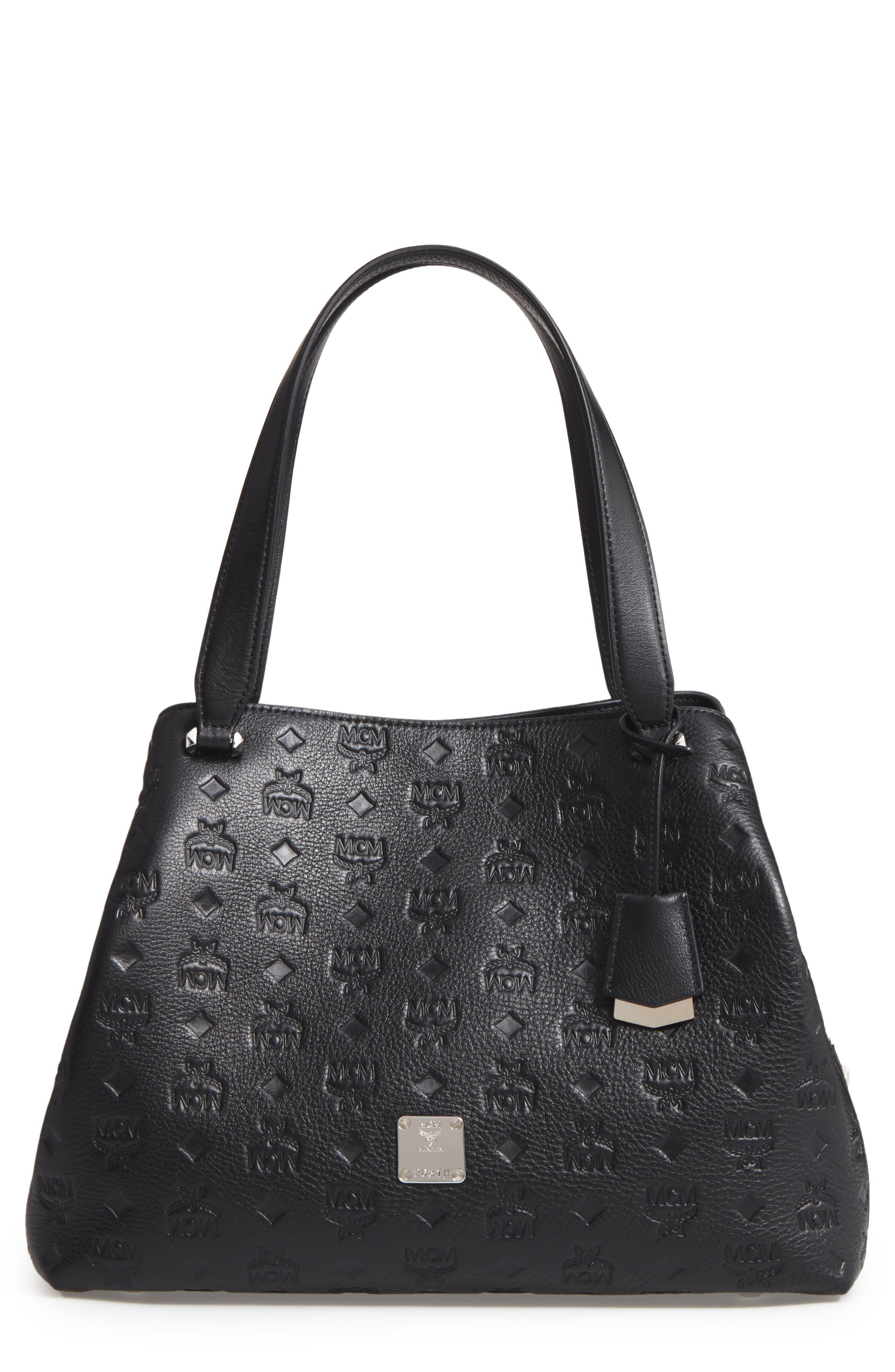 MCM Signature Monogrammed Leather Handbag