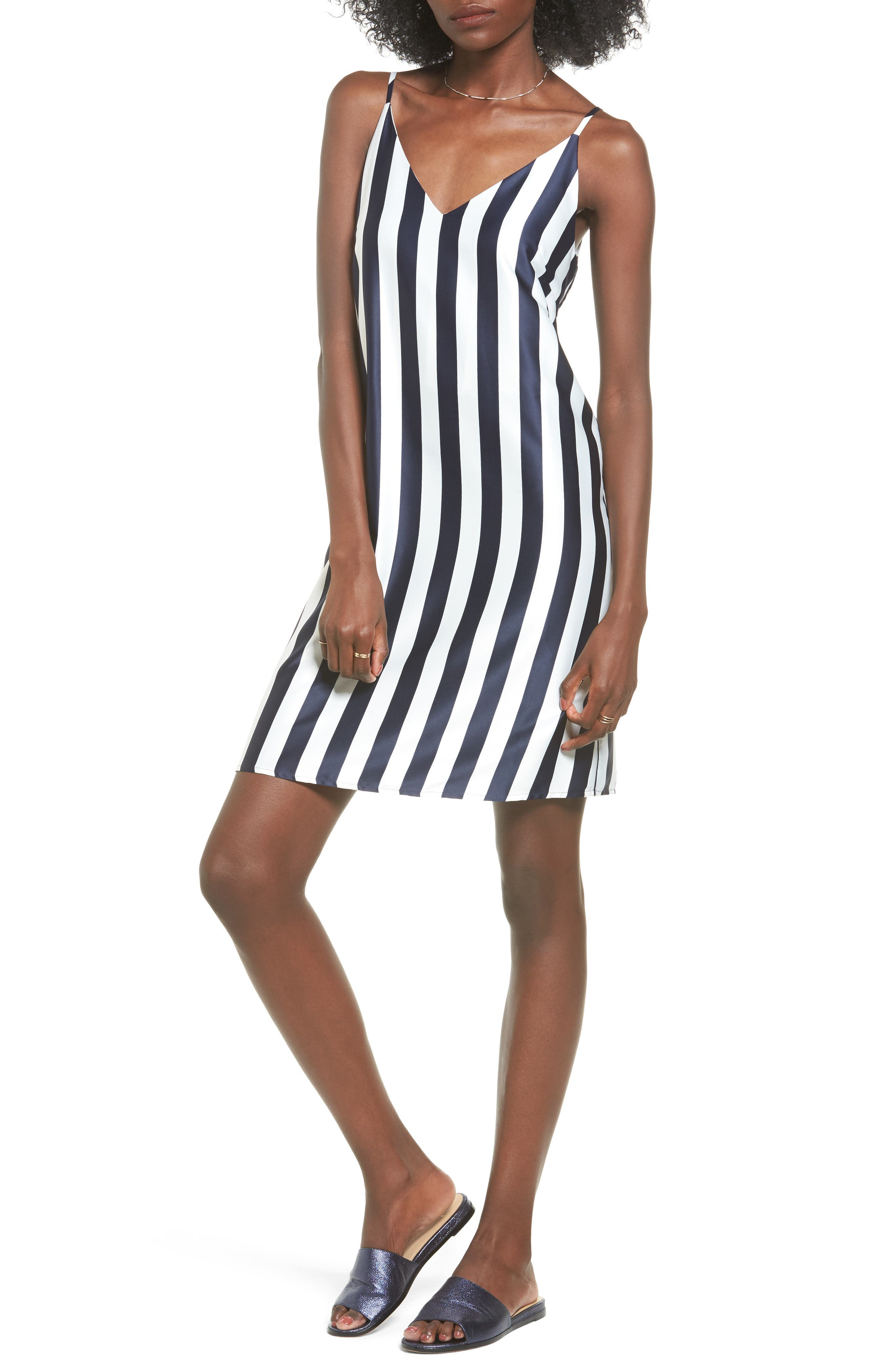 SOPRANO Stripe Woven Shift Dress