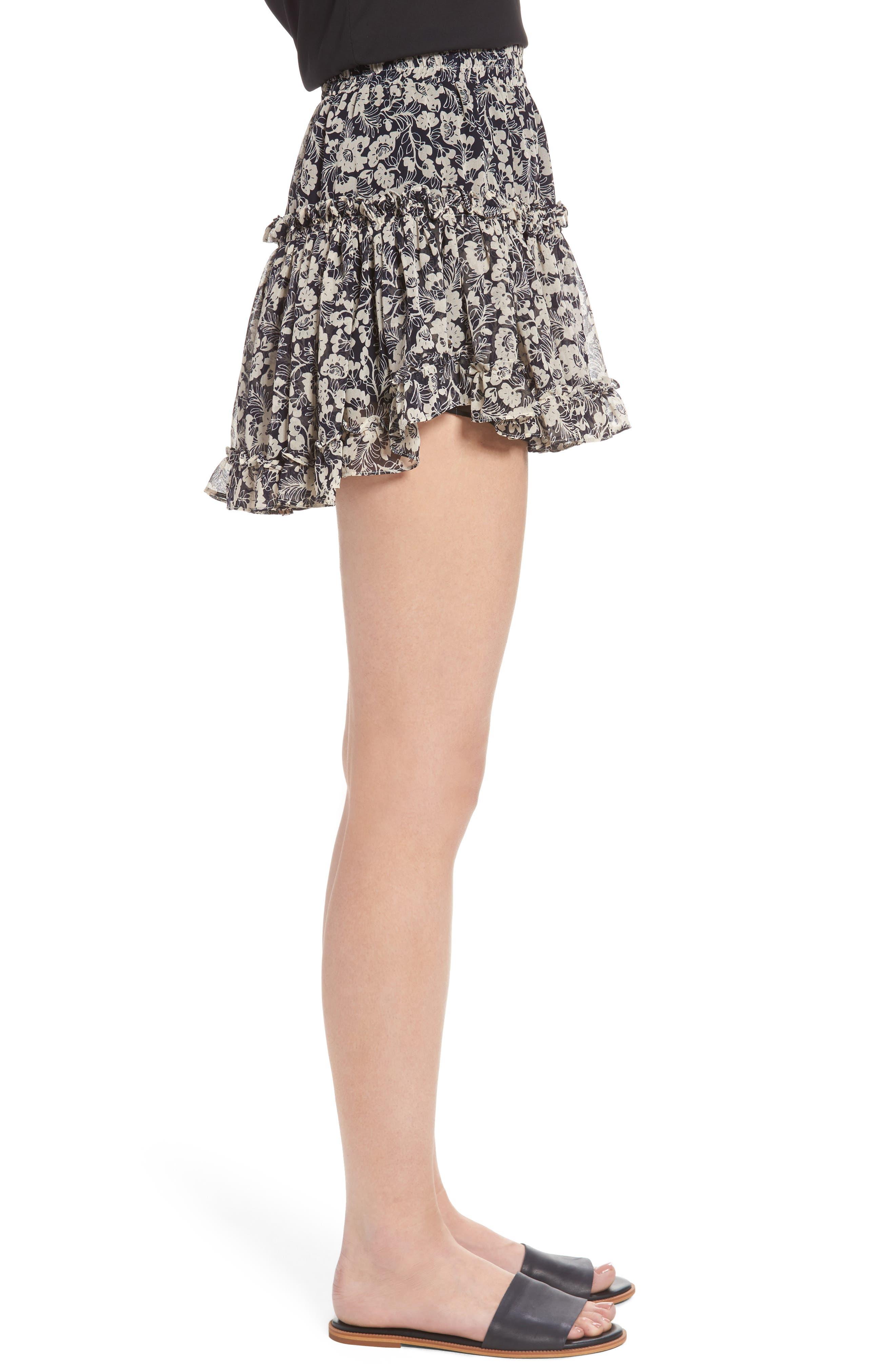 Alternate Image 3  - MISA Los Angeles Marion Floral Print Miniskirt