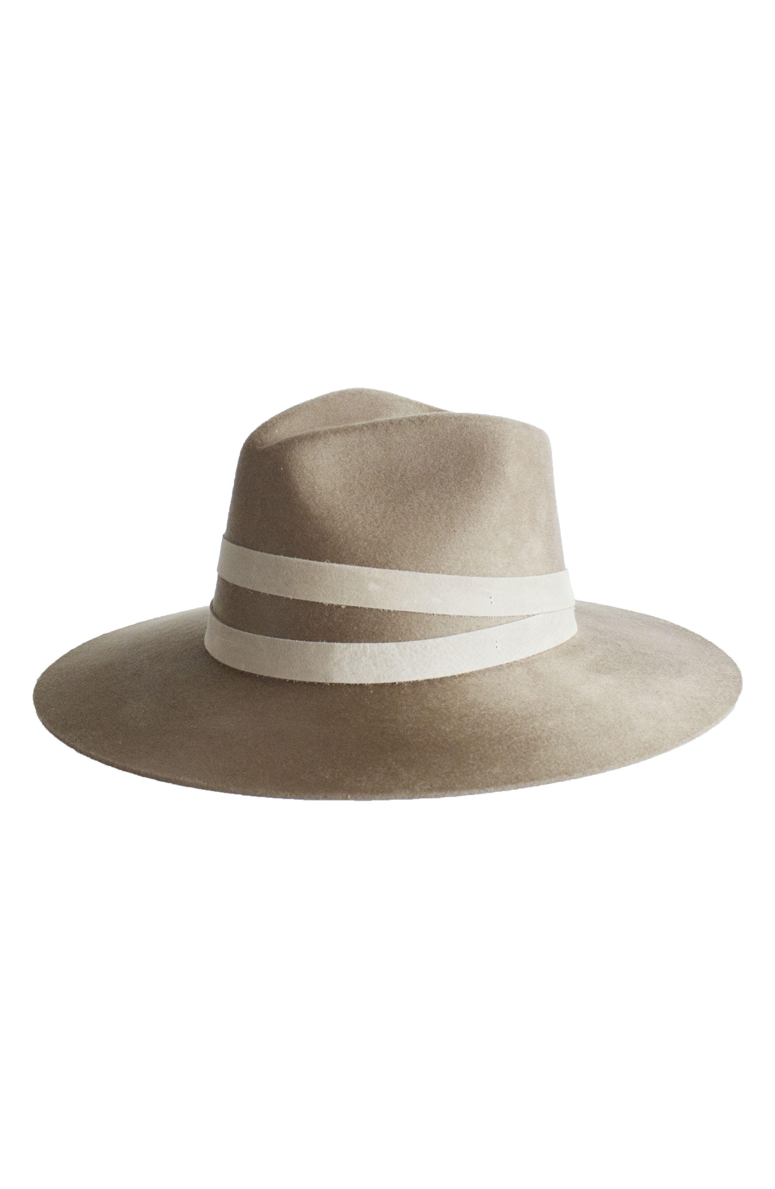 Reagan Wool Hat,                         Main,                         color, Camel