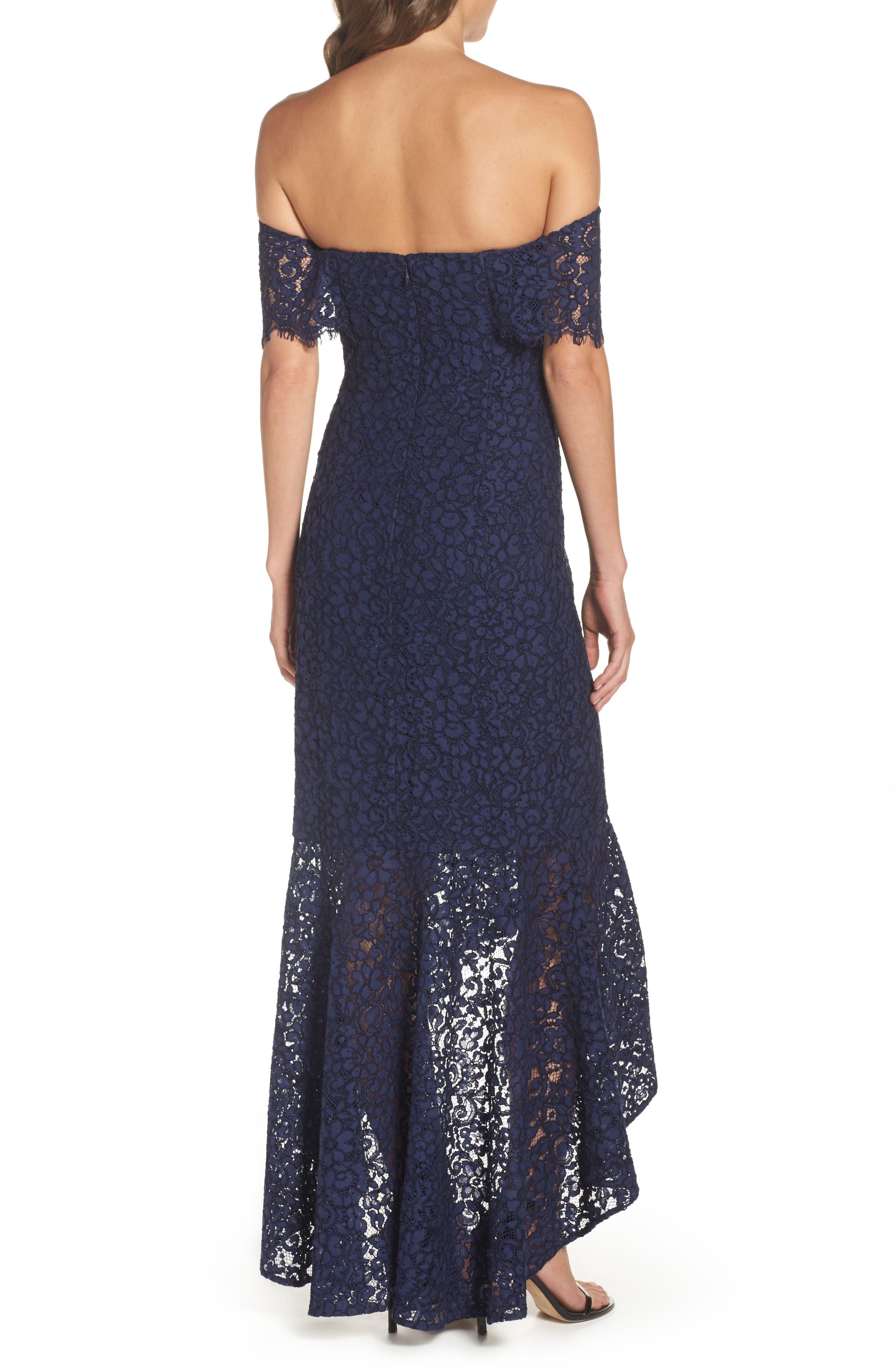 Alternate Image 2  - Shoshanna Vanowen Lace Off the Shoulder Gown