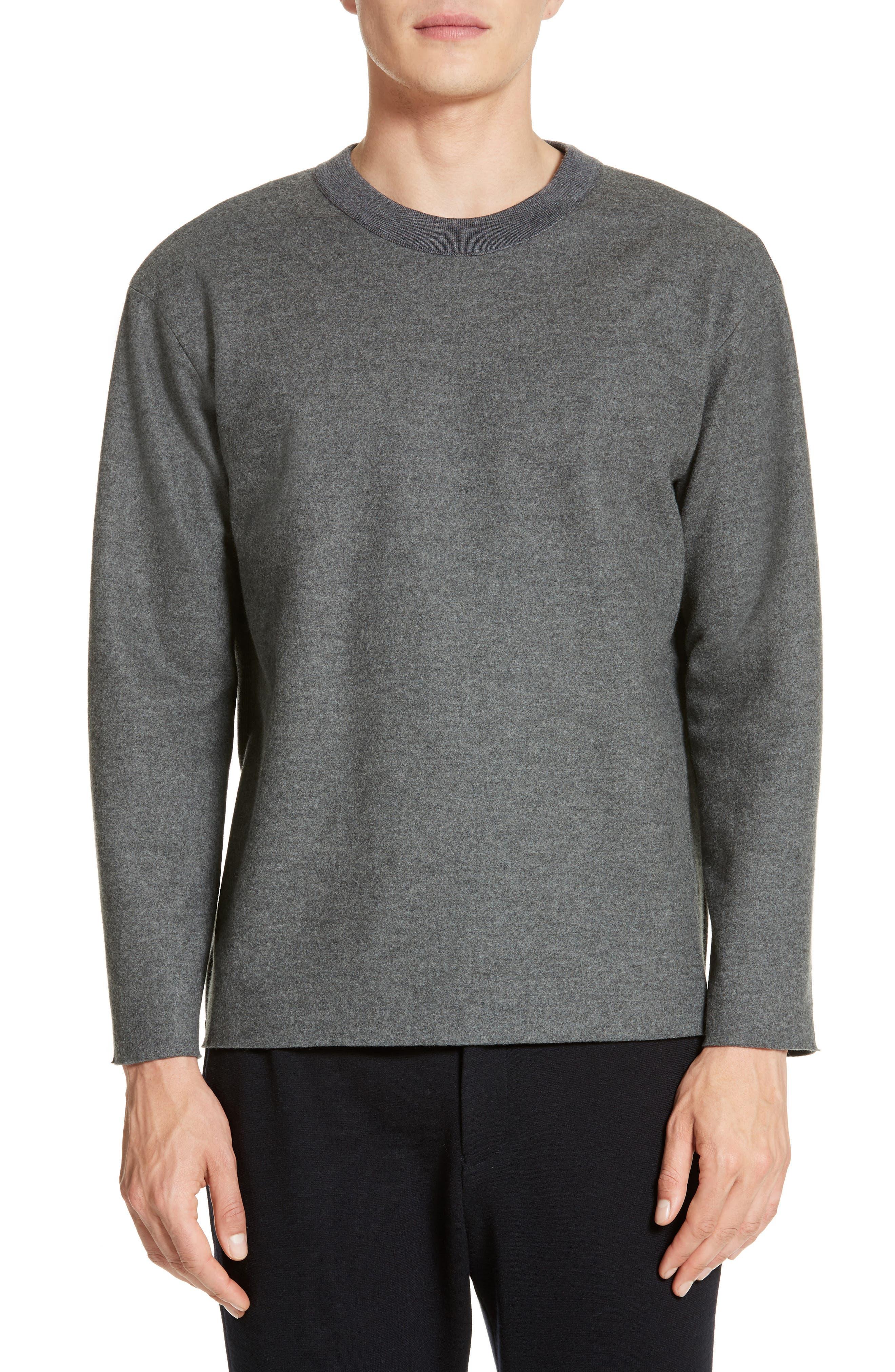 Hyper Compress Sweatshirt,                         Main,                         color, Grey