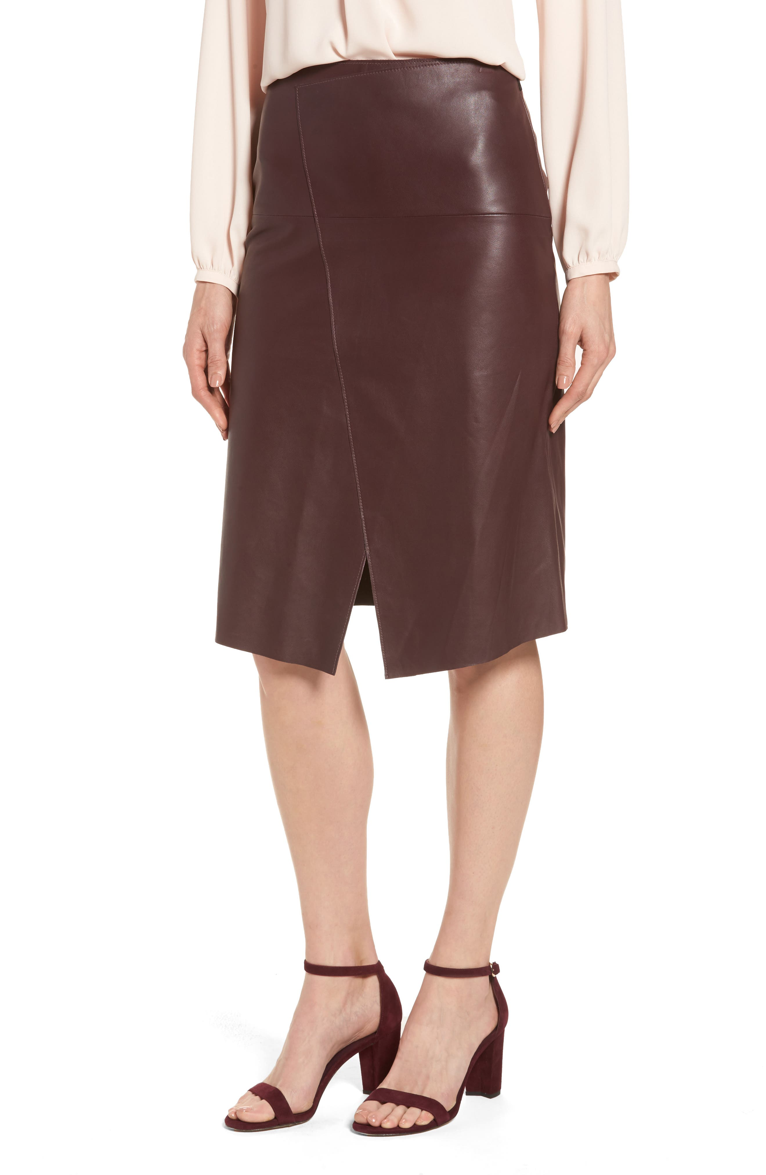 Emerson Rose Leather Skirt