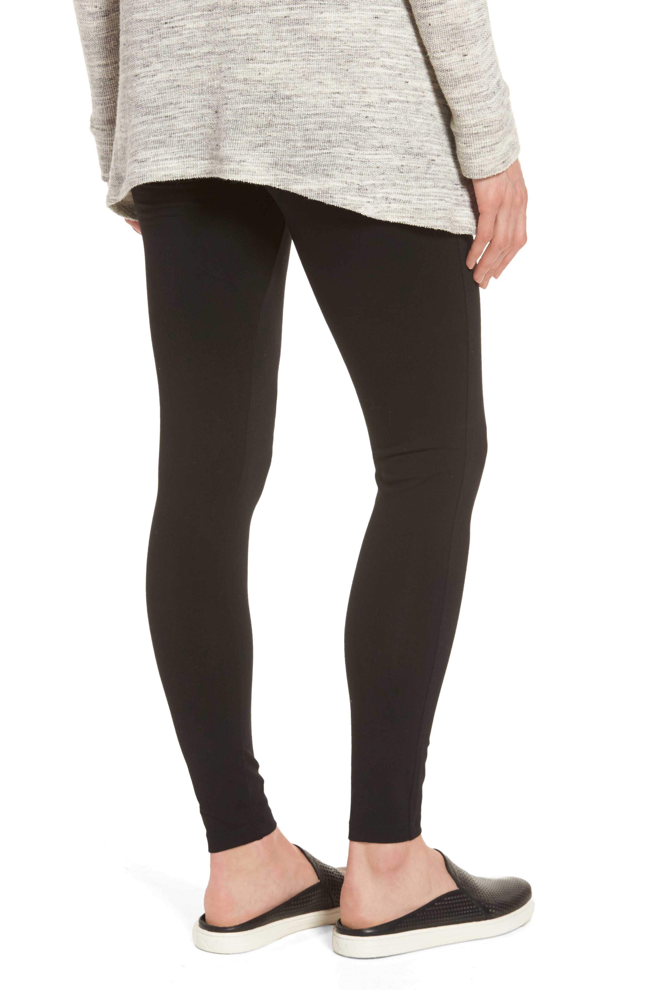 Alternate Image 2  - Caslon® High Waist Leggings (Regular & Petite)