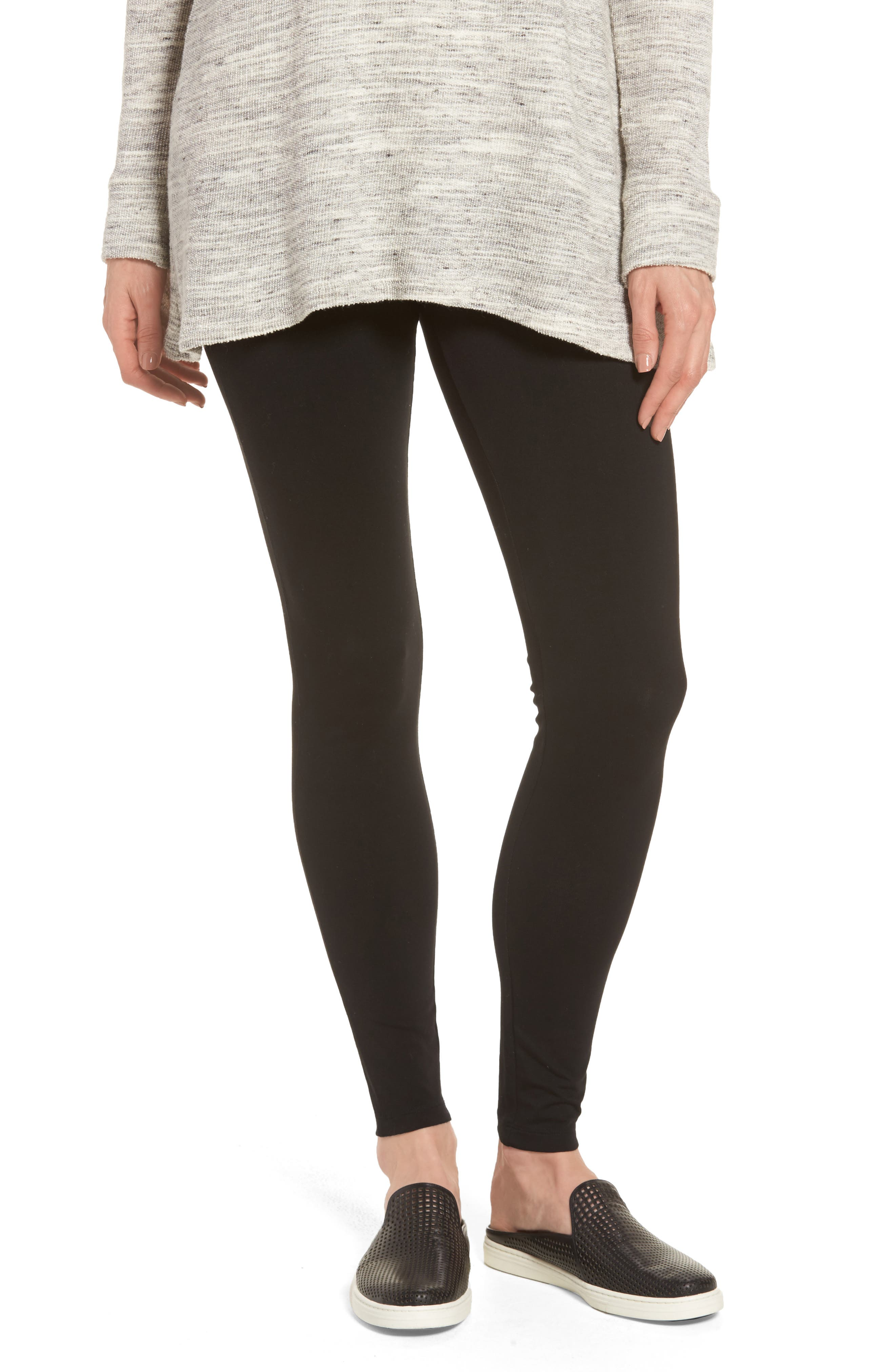 High Waist Leggings,                         Main,                         color, Black