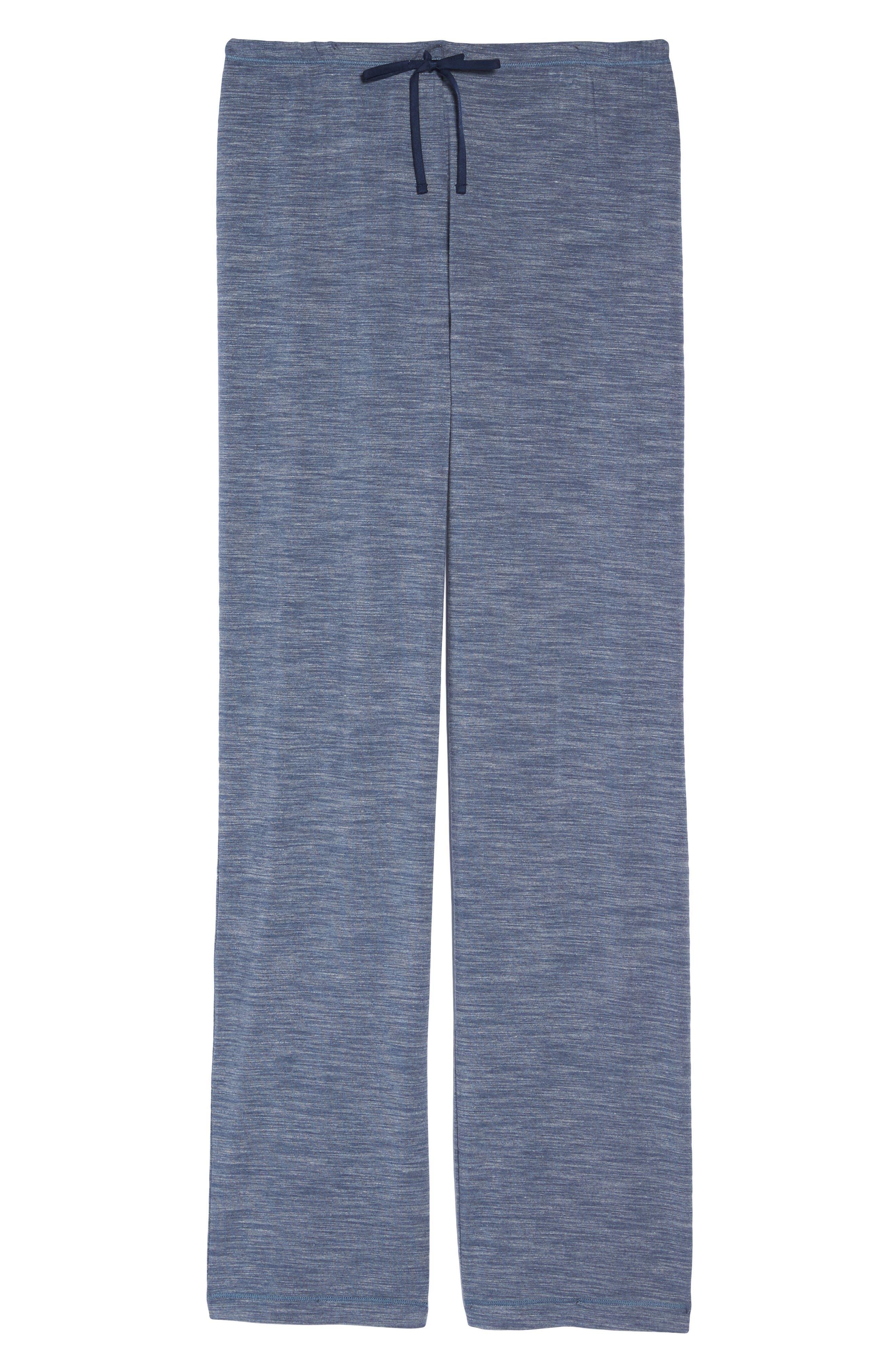 'City Essentials' Pants,                             Alternate thumbnail 4, color,                             Blue Prt