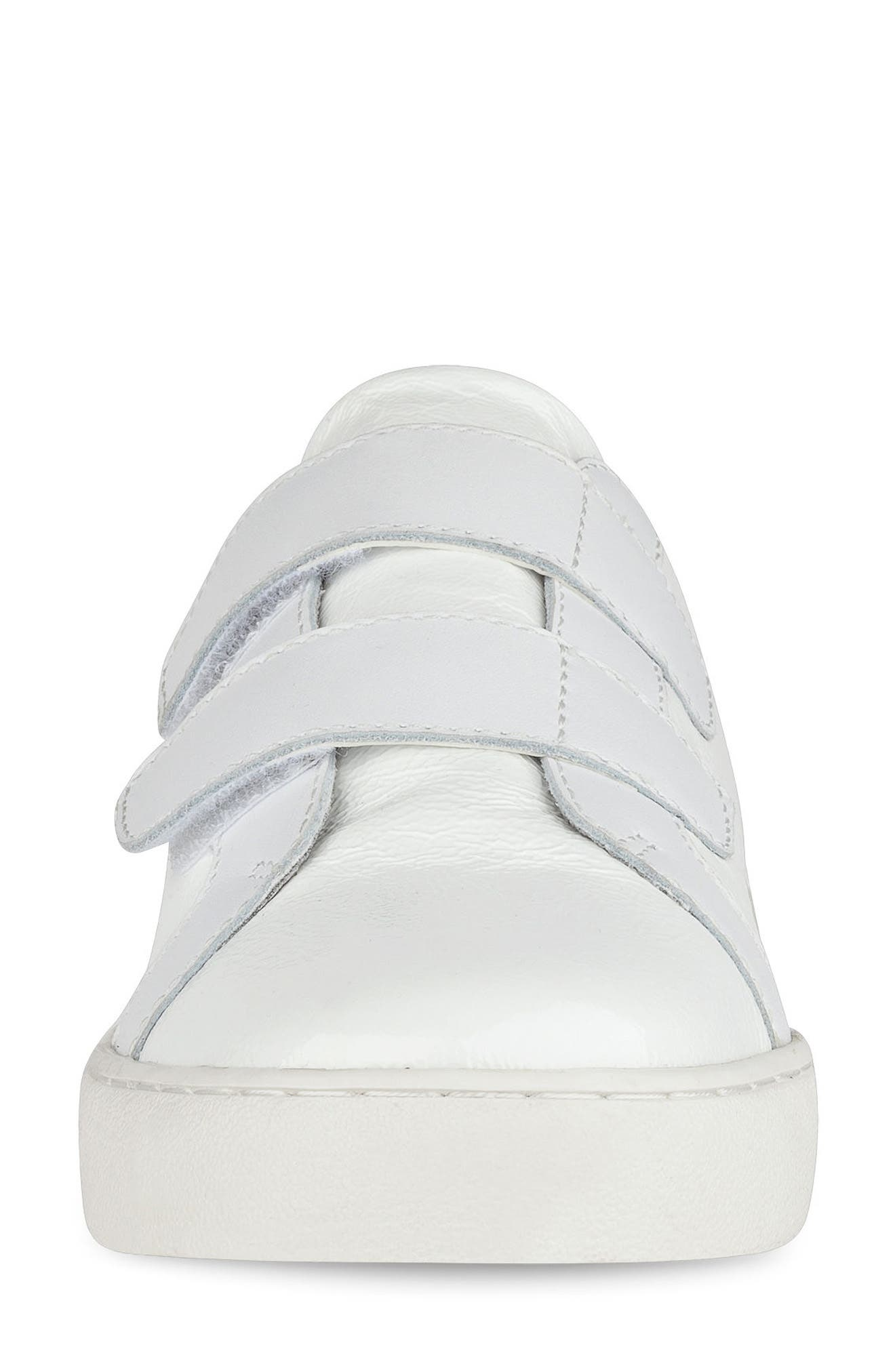 Poeton Sneaker Mule,                             Alternate thumbnail 4, color,                             White Leather