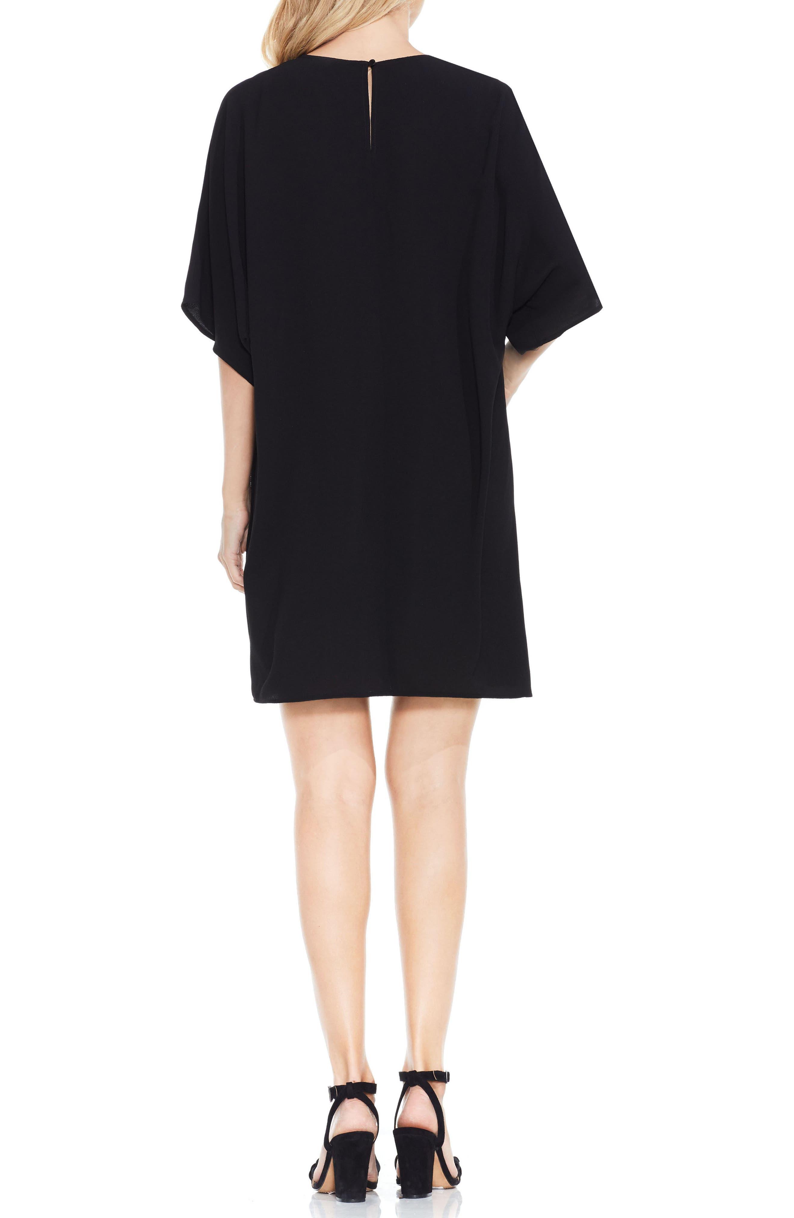 Dolman Sleeve Dress,                             Alternate thumbnail 3, color,                             Rich Black